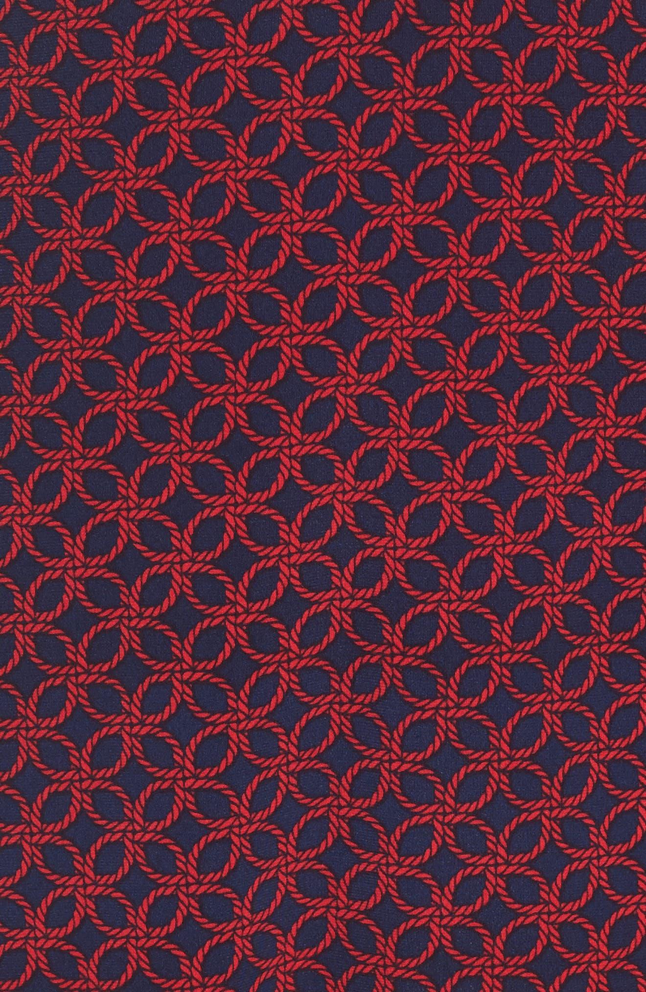 Geo Rope Print Shirtdress,                             Alternate thumbnail 5, color,                             407