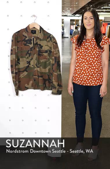 Wendell Slim Fit Camo Shirt Jacket, sales video thumbnail