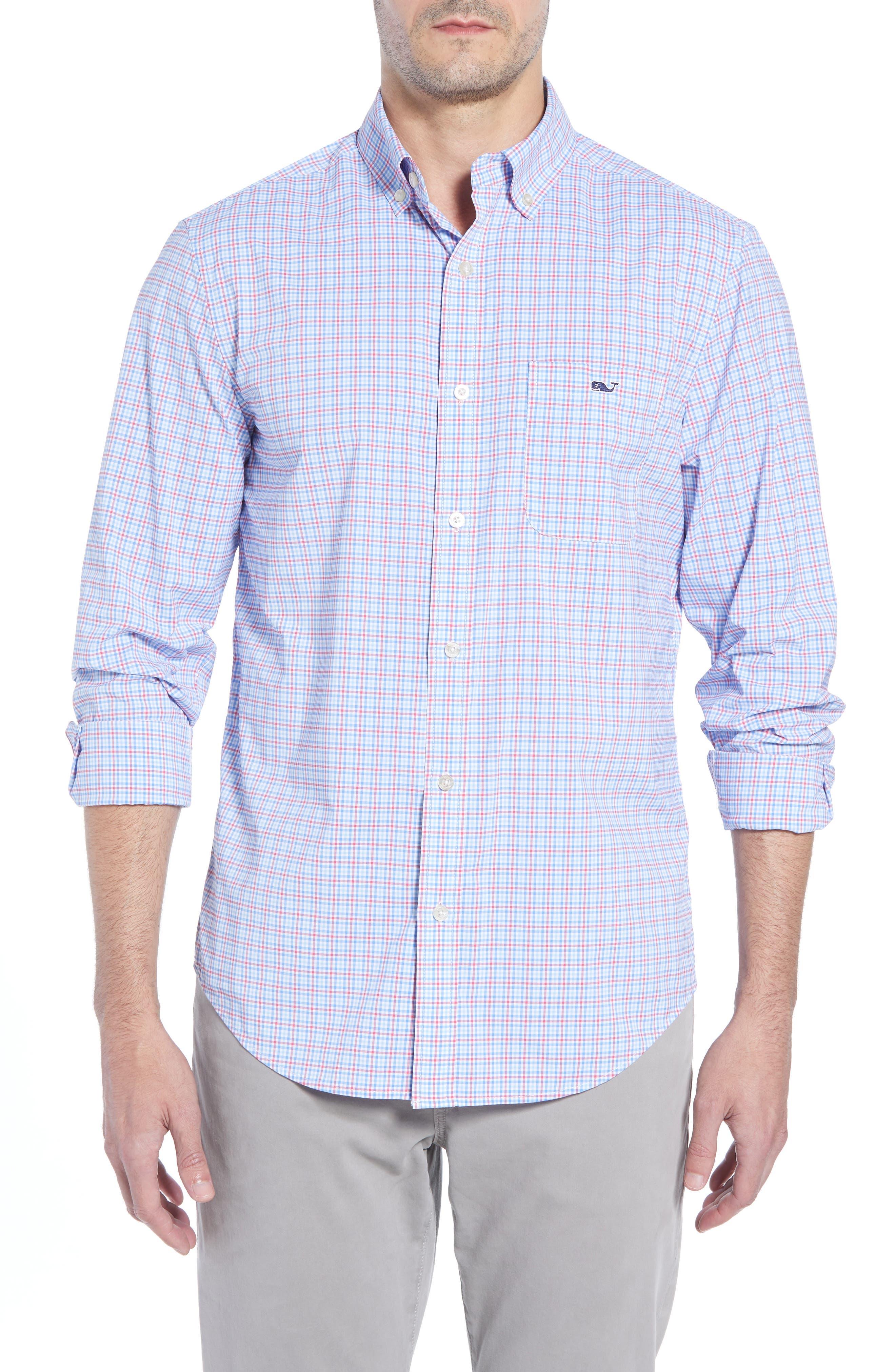 Boldwater Regular Fit Plaid Sport Shirt,                             Main thumbnail 1, color,                             SAILORS RED