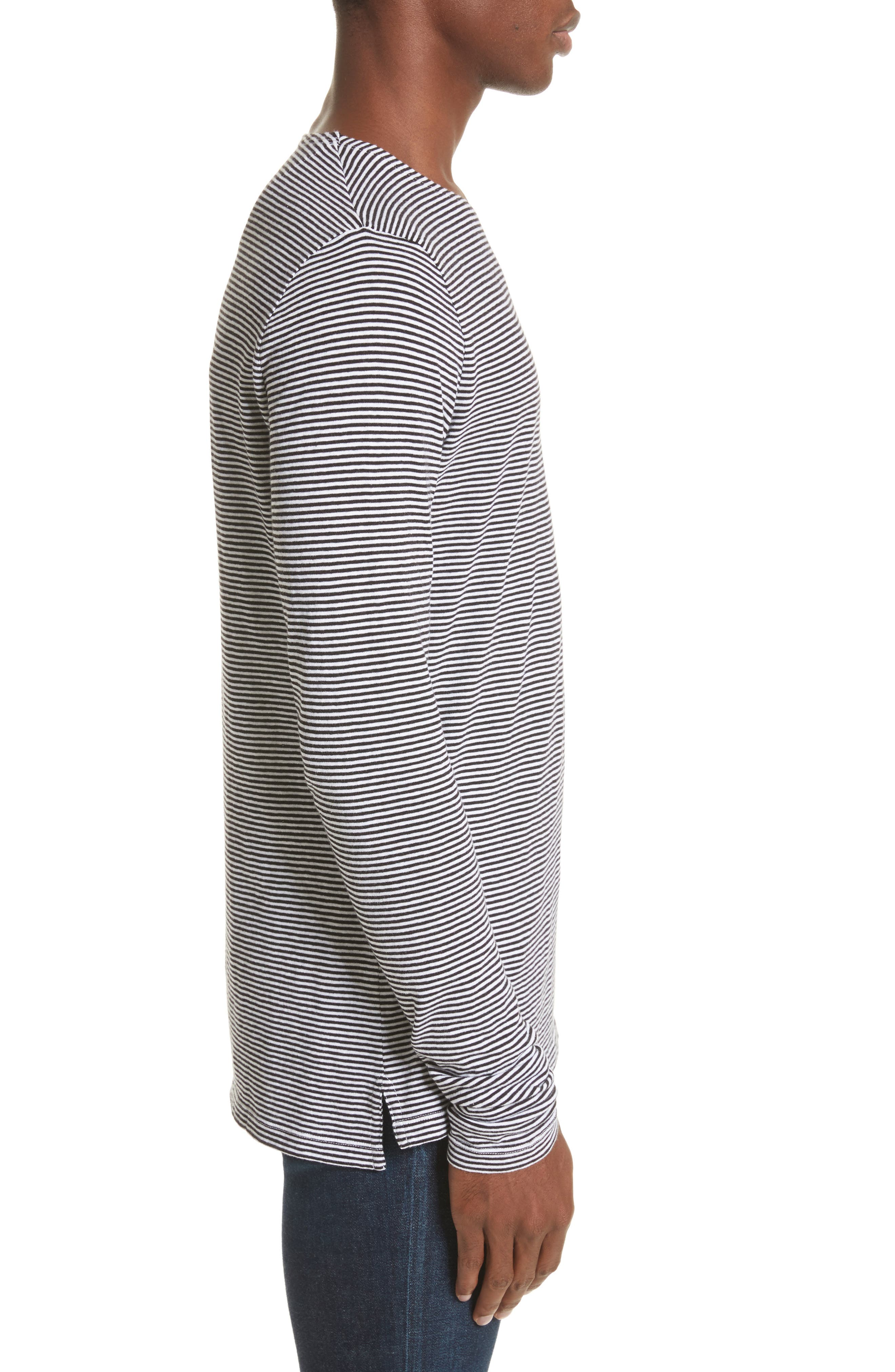 Tayford Stripe Long Sleeve T-Shirt,                             Alternate thumbnail 3, color,                             100