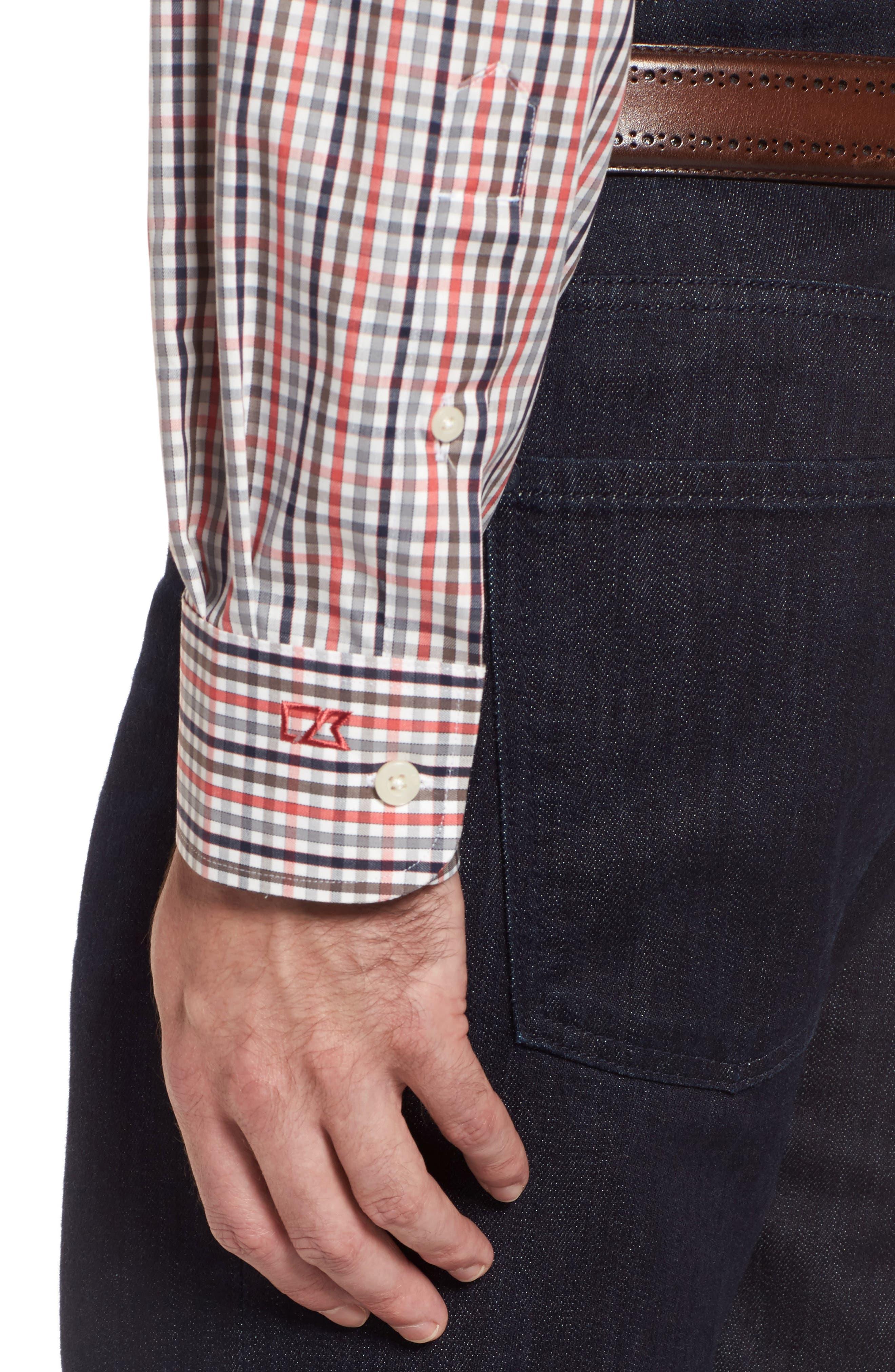 Baxter Epic Easy Care Classic Fit Plaid Sport Shirt,                             Alternate thumbnail 4, color,                             622