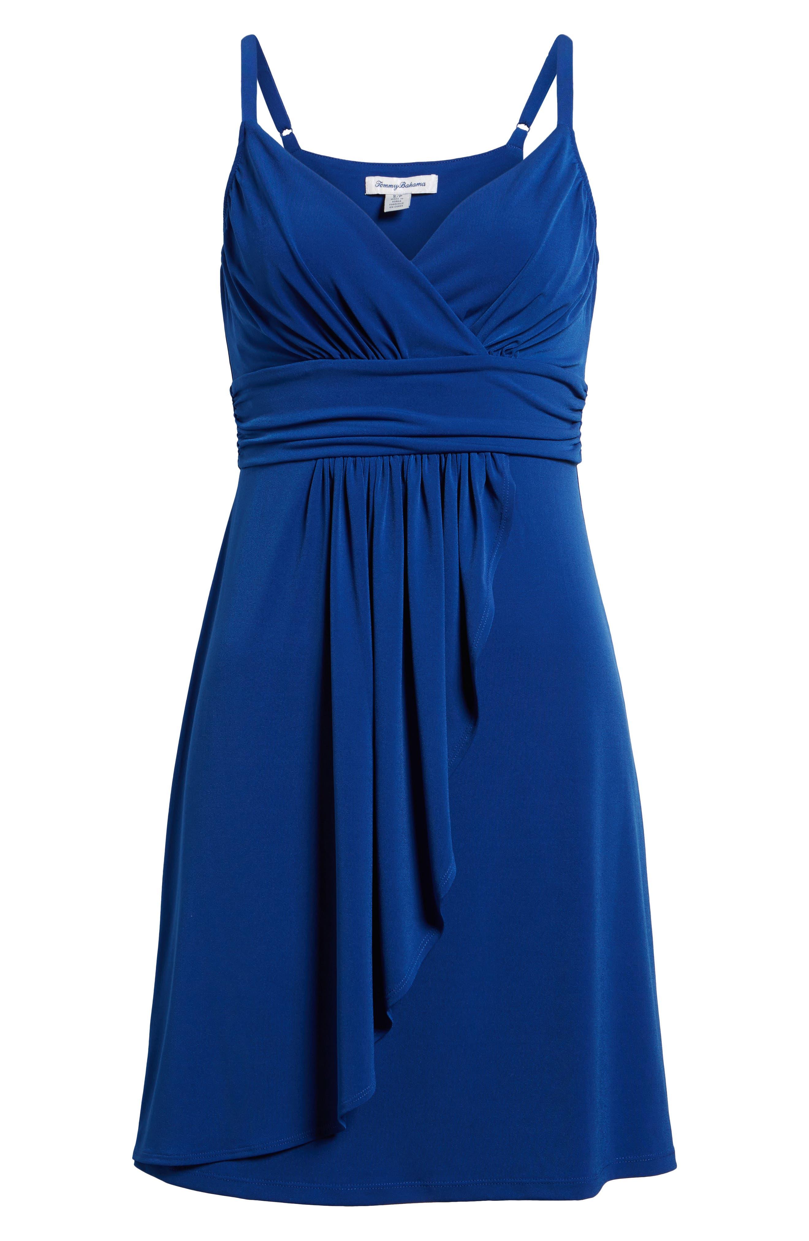 Elenna Stretch Jersey Sundress,                             Alternate thumbnail 6, color,                             DARK BLUE