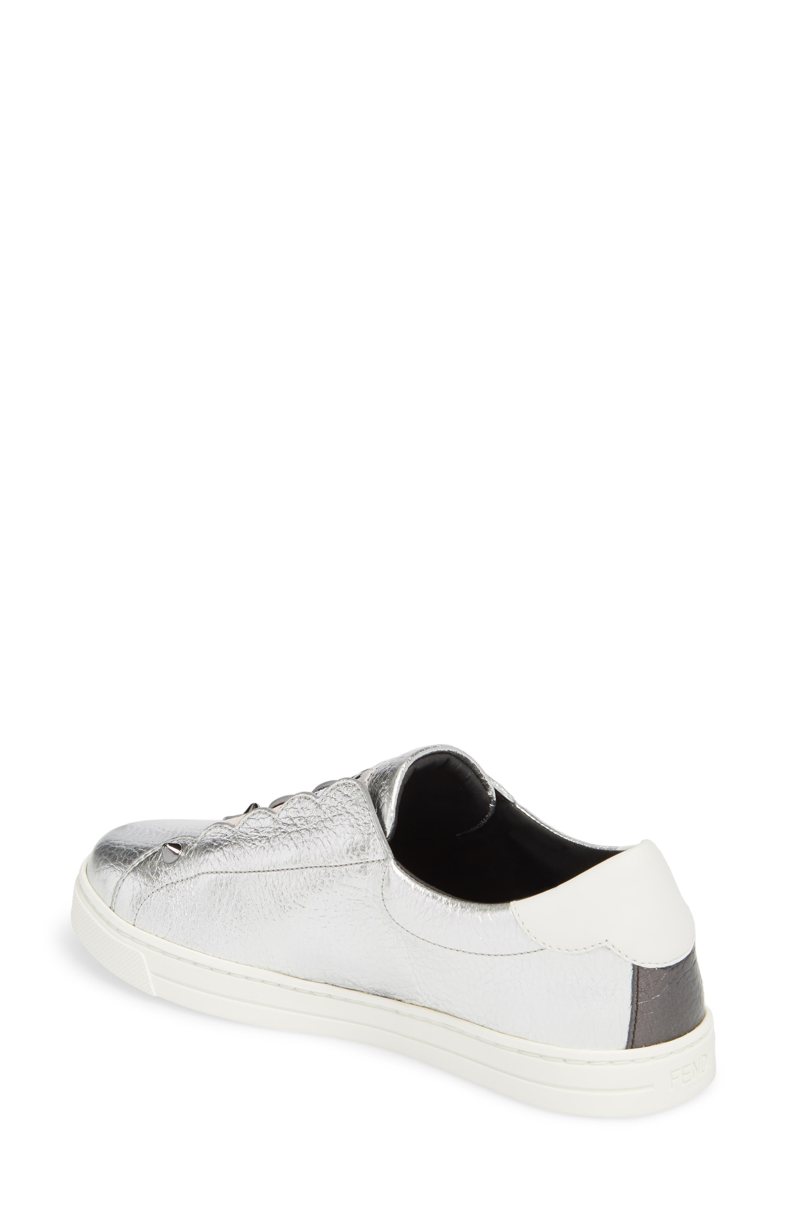 Rockono Slip-On Sneaker,                             Alternate thumbnail 2, color,                             SILVER