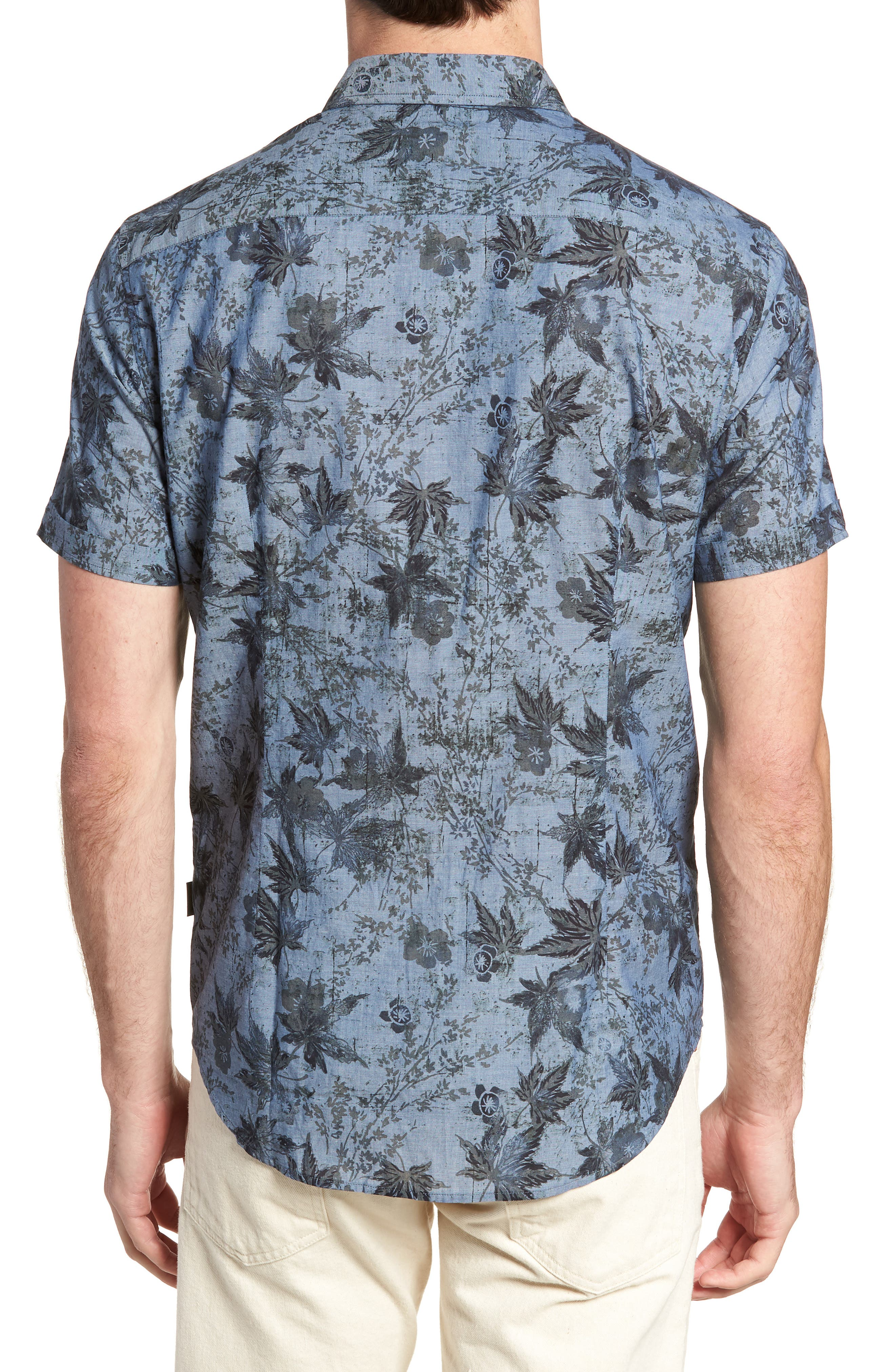Regular Fit Print Short Sleeve Sport Shirt,                             Alternate thumbnail 2, color,                             410