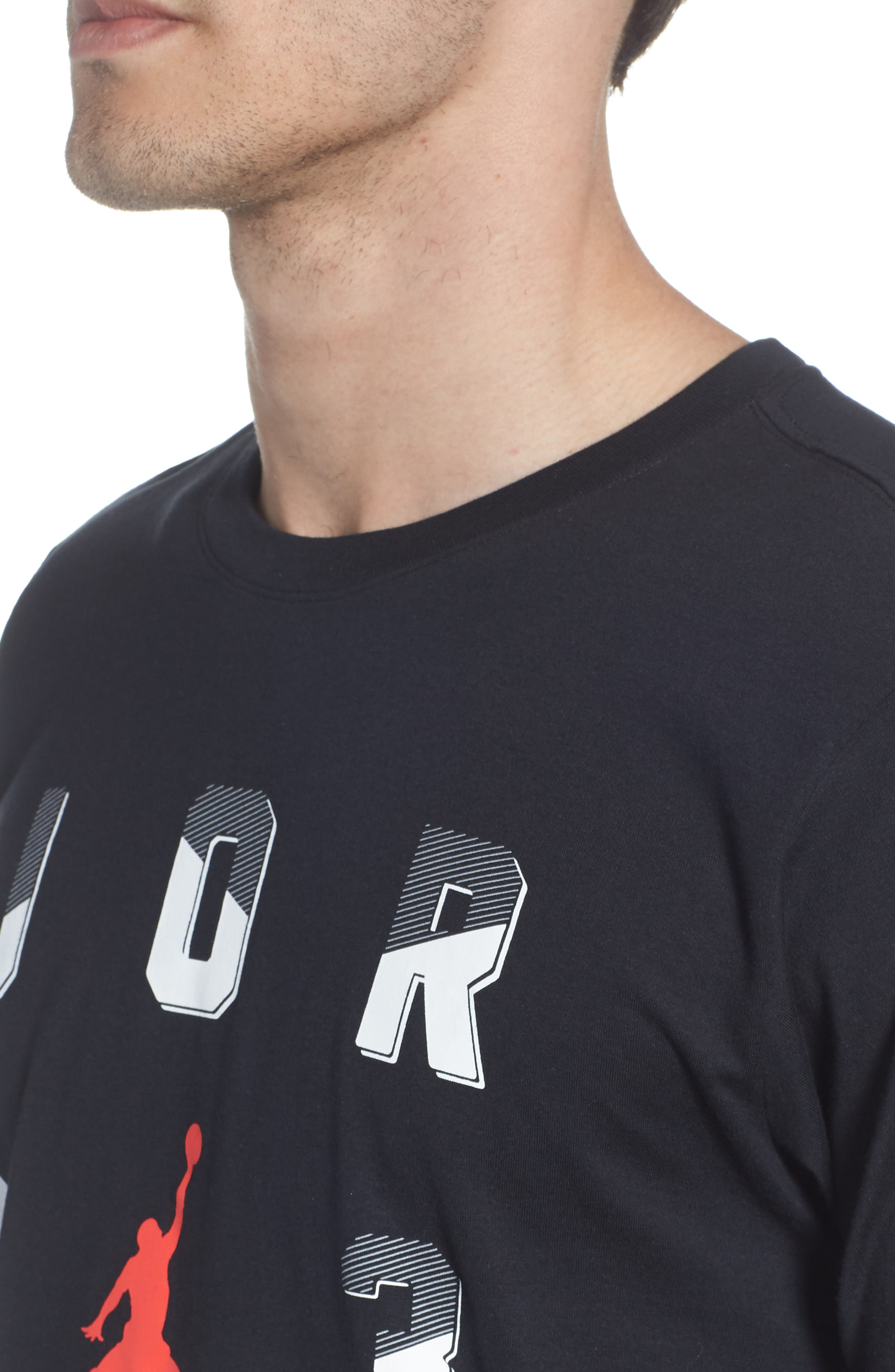 Sportswear 23 T-Shirt,                             Alternate thumbnail 4, color,                             BLACK/ INFRARED 23