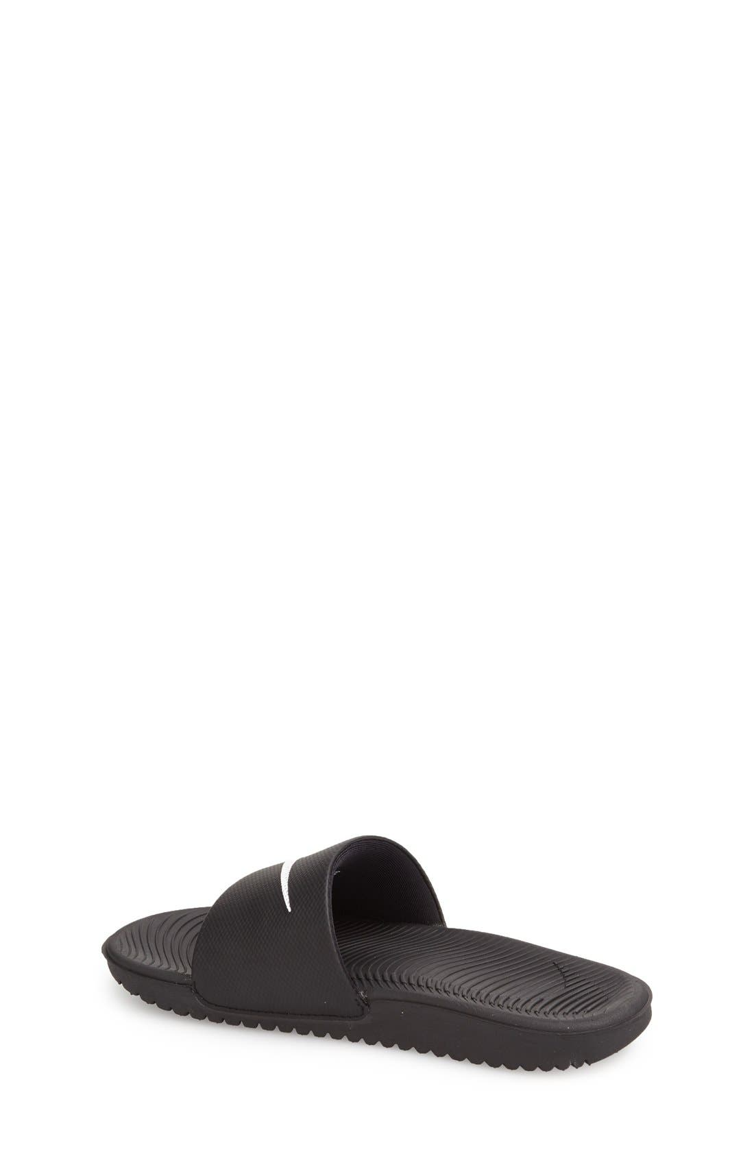 'Kawa' Slide Sandal,                             Alternate thumbnail 3, color,                             BLACK/ WHITE