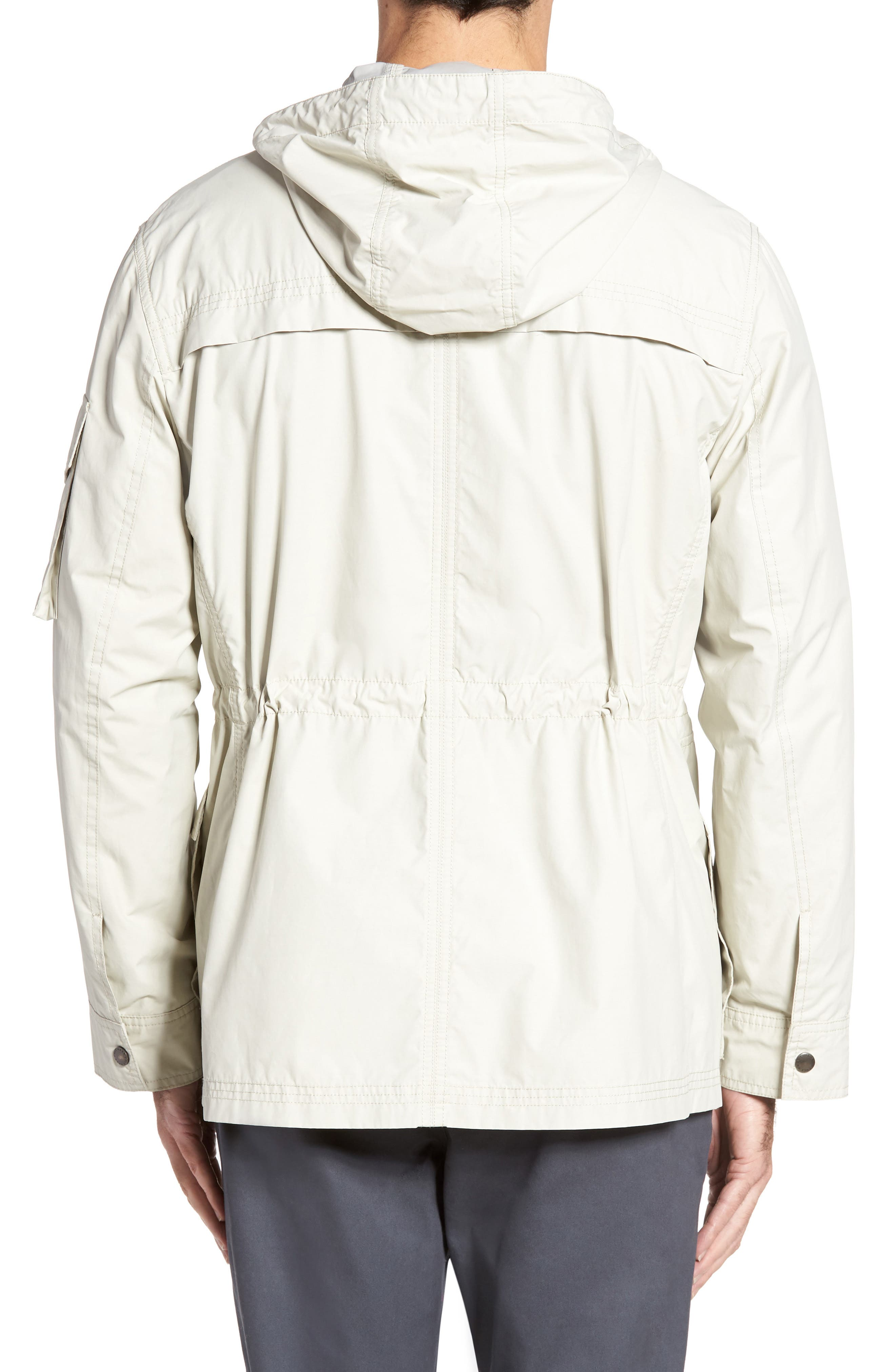 COLE HAAN,                             Water Repellent Hooded Jacket,                             Alternate thumbnail 2, color,                             STONE