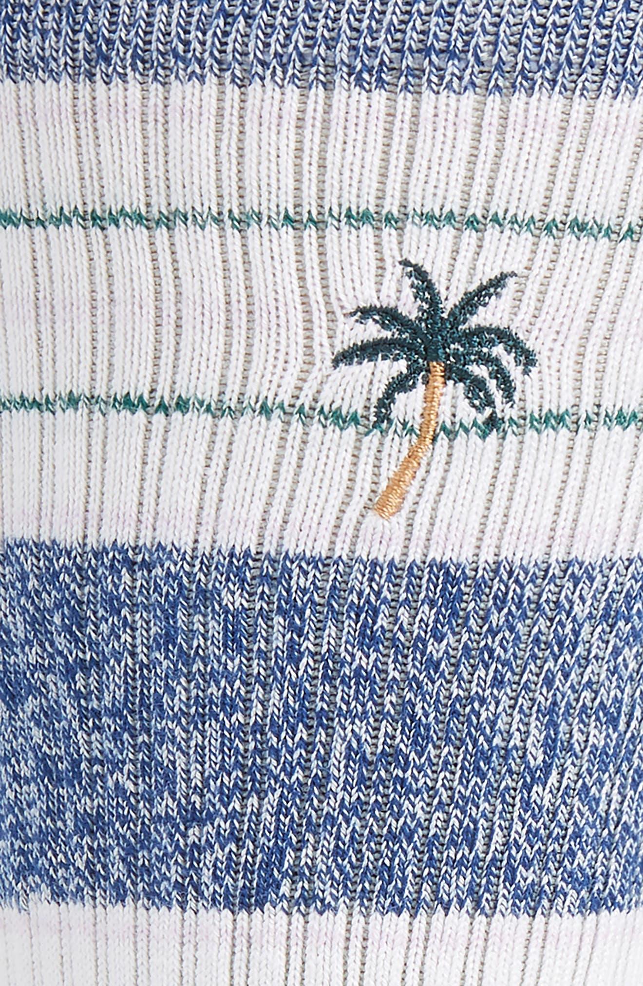 Shade Stripe Socks,                             Alternate thumbnail 2, color,                             NAVY