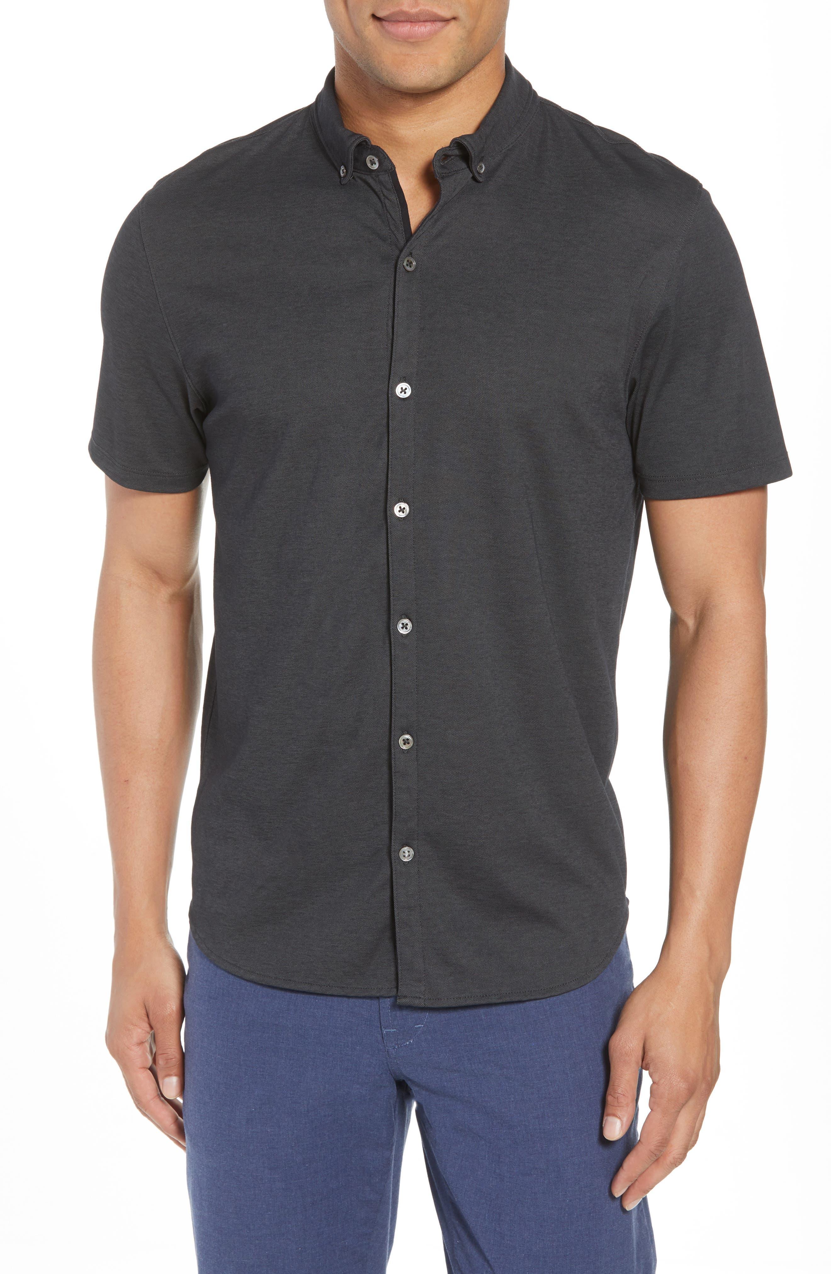 Caruth Piqué Sport Shirt,                         Main,                         color, 021