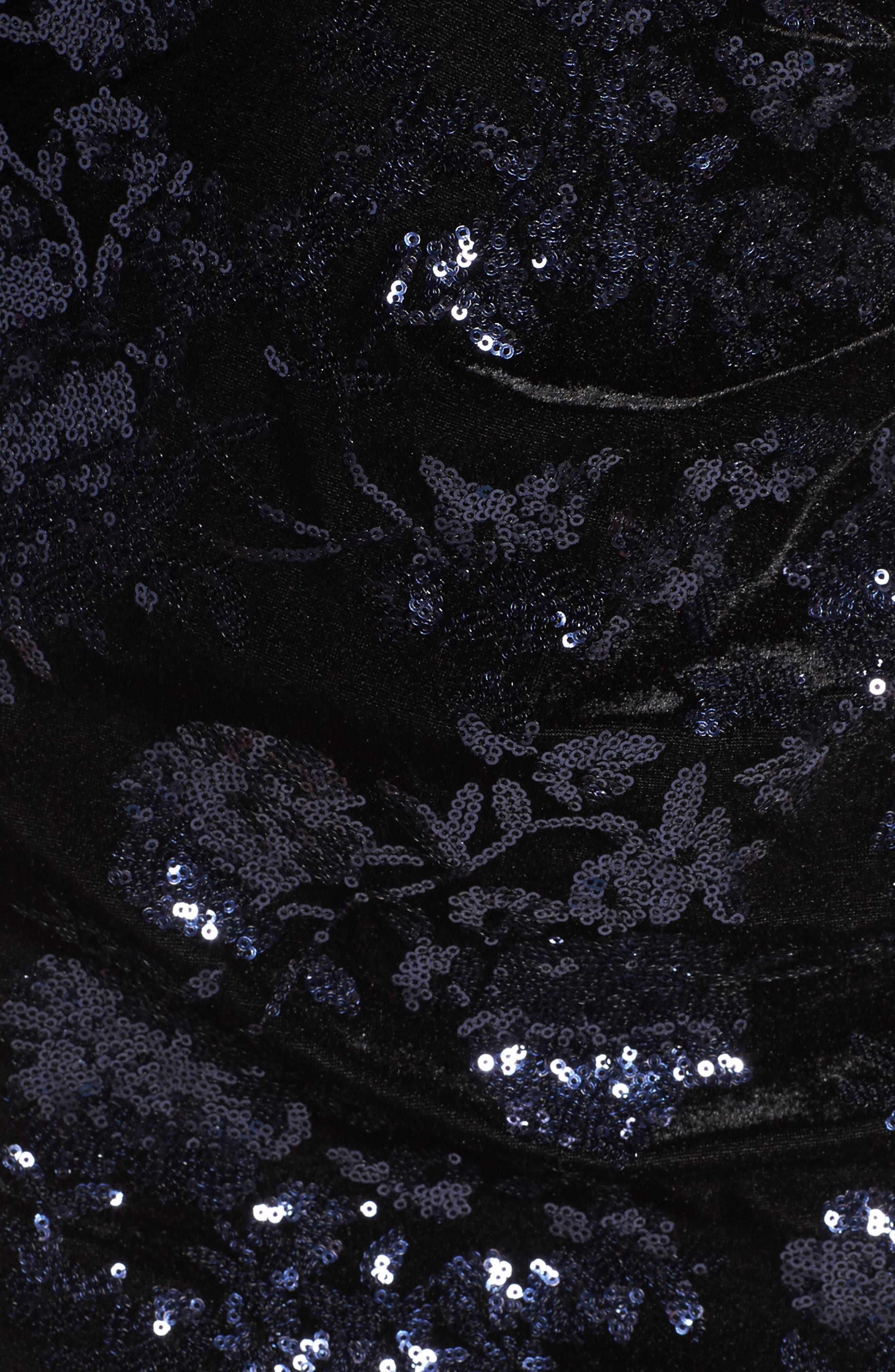 Sequin Embellished Sheath Dress,                             Alternate thumbnail 5, color,                             001