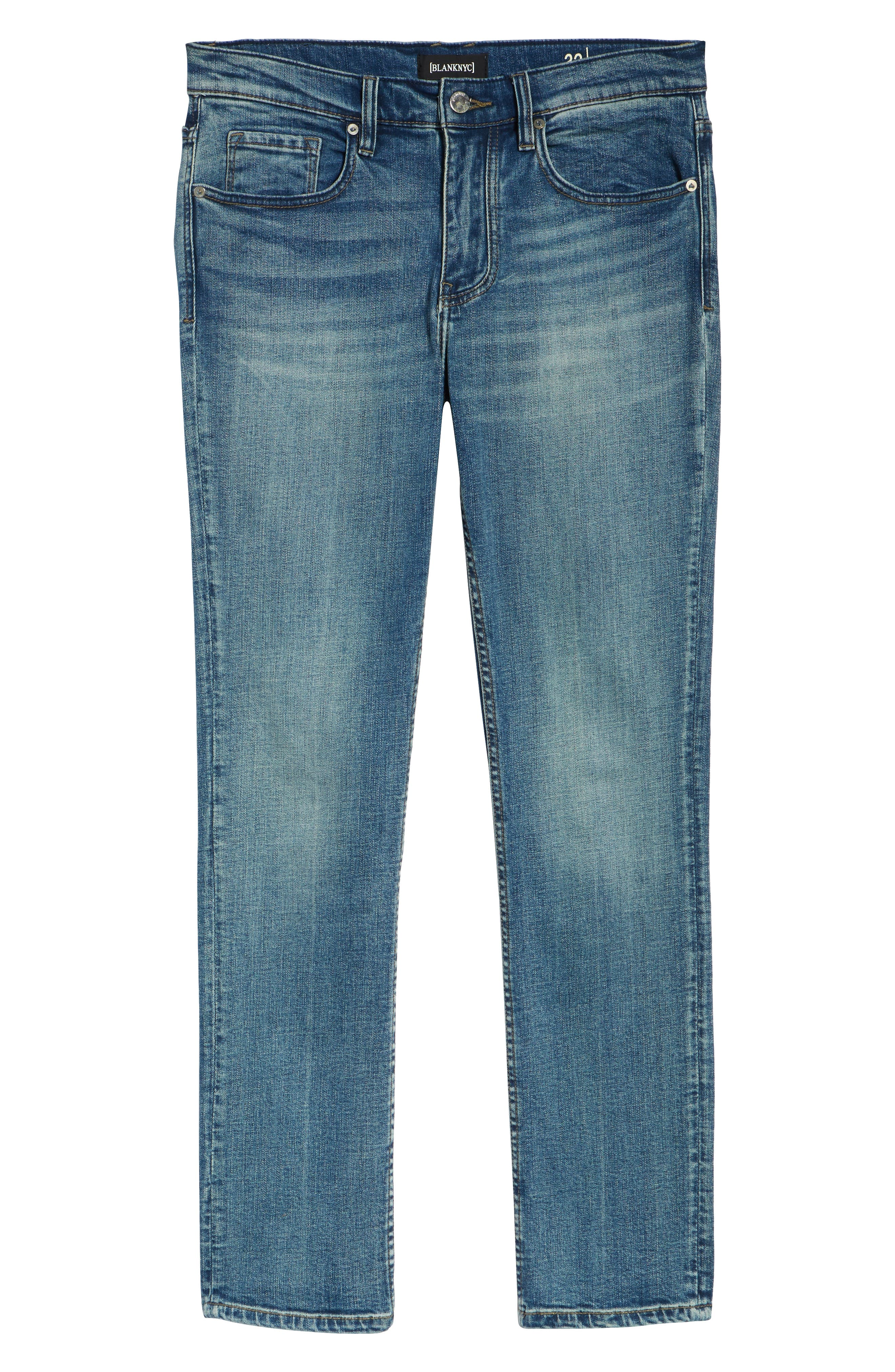 Wooster Selvedge Slim Fit Jeans,                             Alternate thumbnail 6, color,                             LIGHT WORK