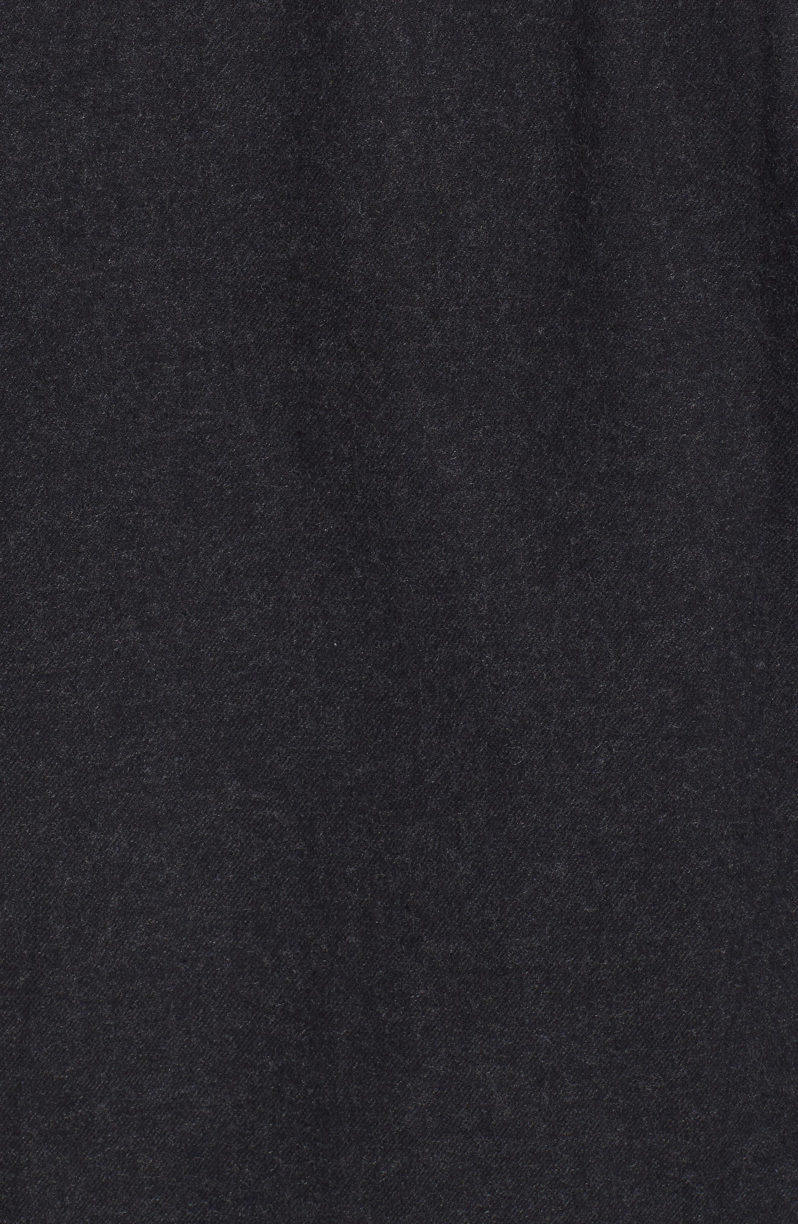 Nicks Flannel Zip Overshirt,                             Alternate thumbnail 5, color,                             001