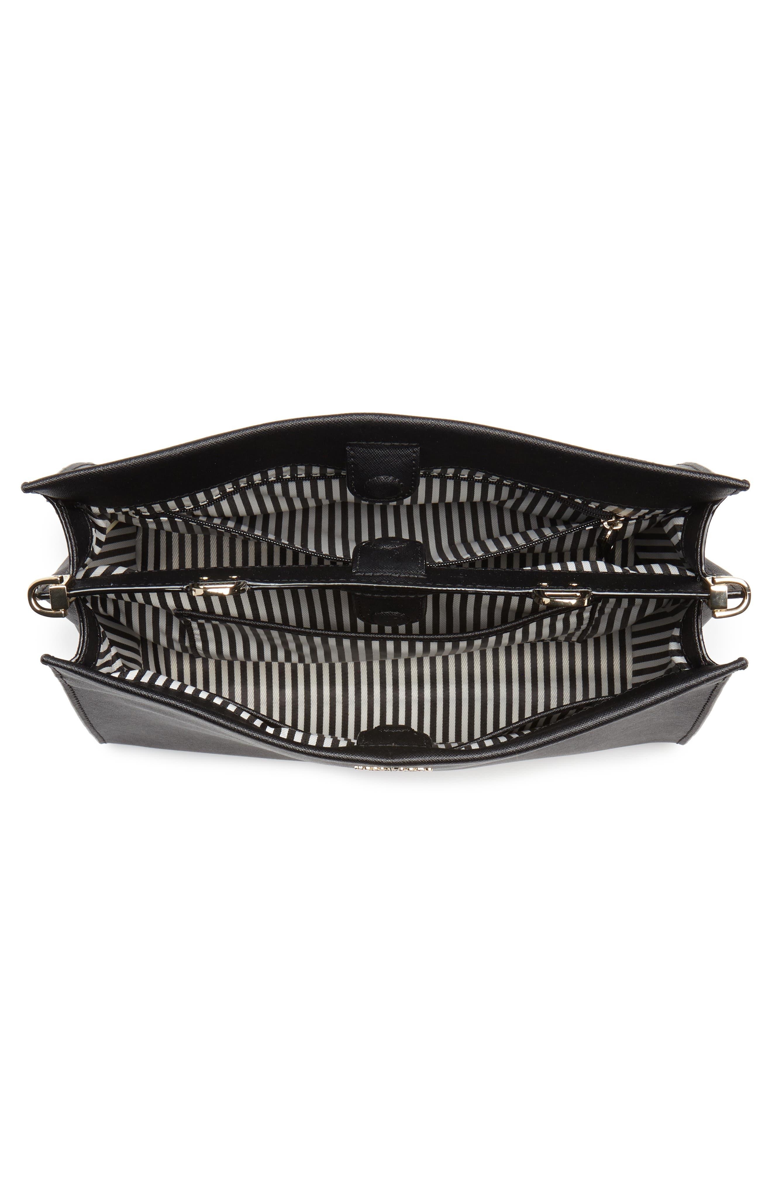 cameron street - sara leather satchel,                             Alternate thumbnail 4, color,                             001