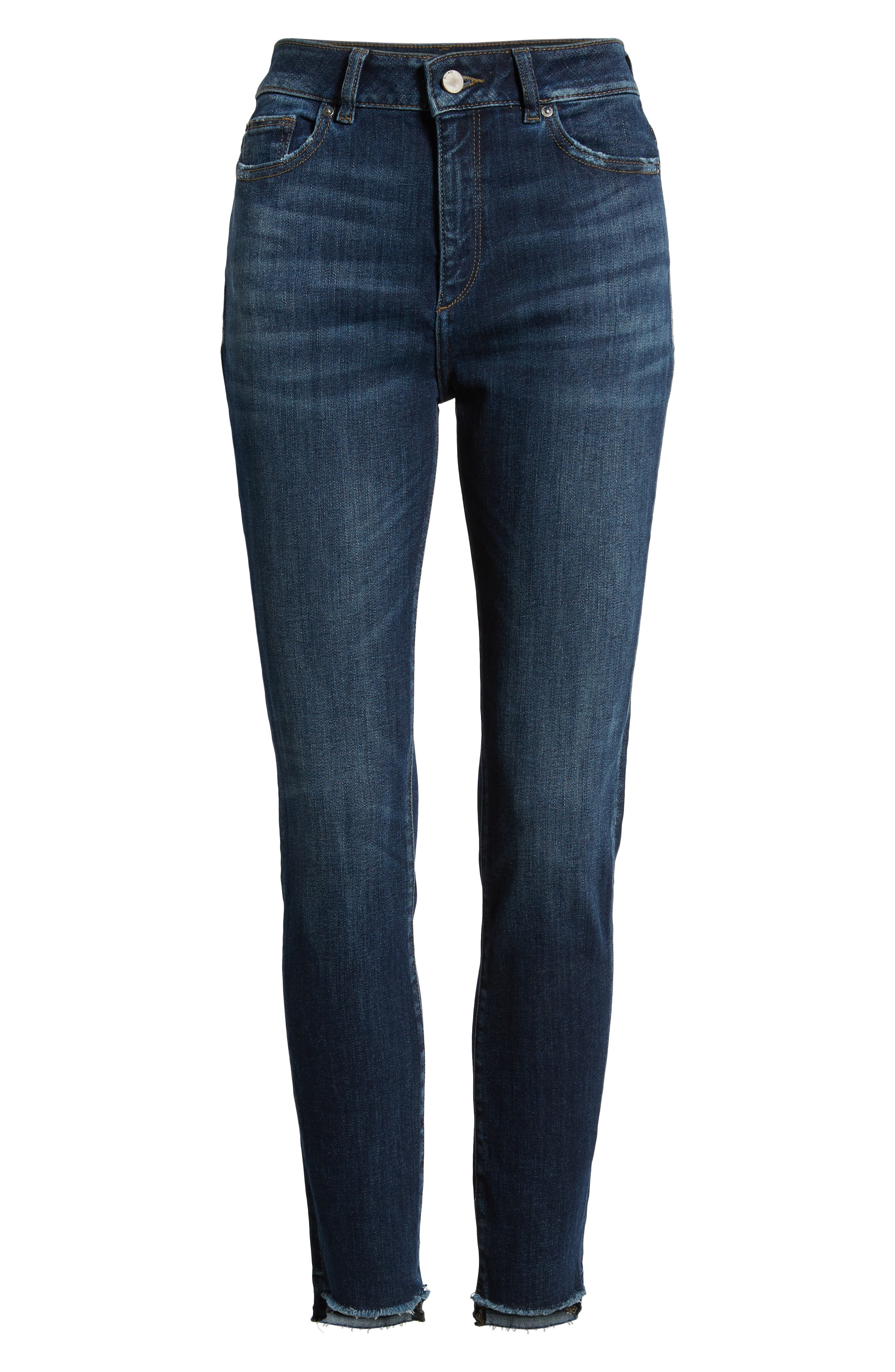 Chrissy Ultra High Waist Ankle Skinny Jeans,                             Alternate thumbnail 7, color,                             WAKELY