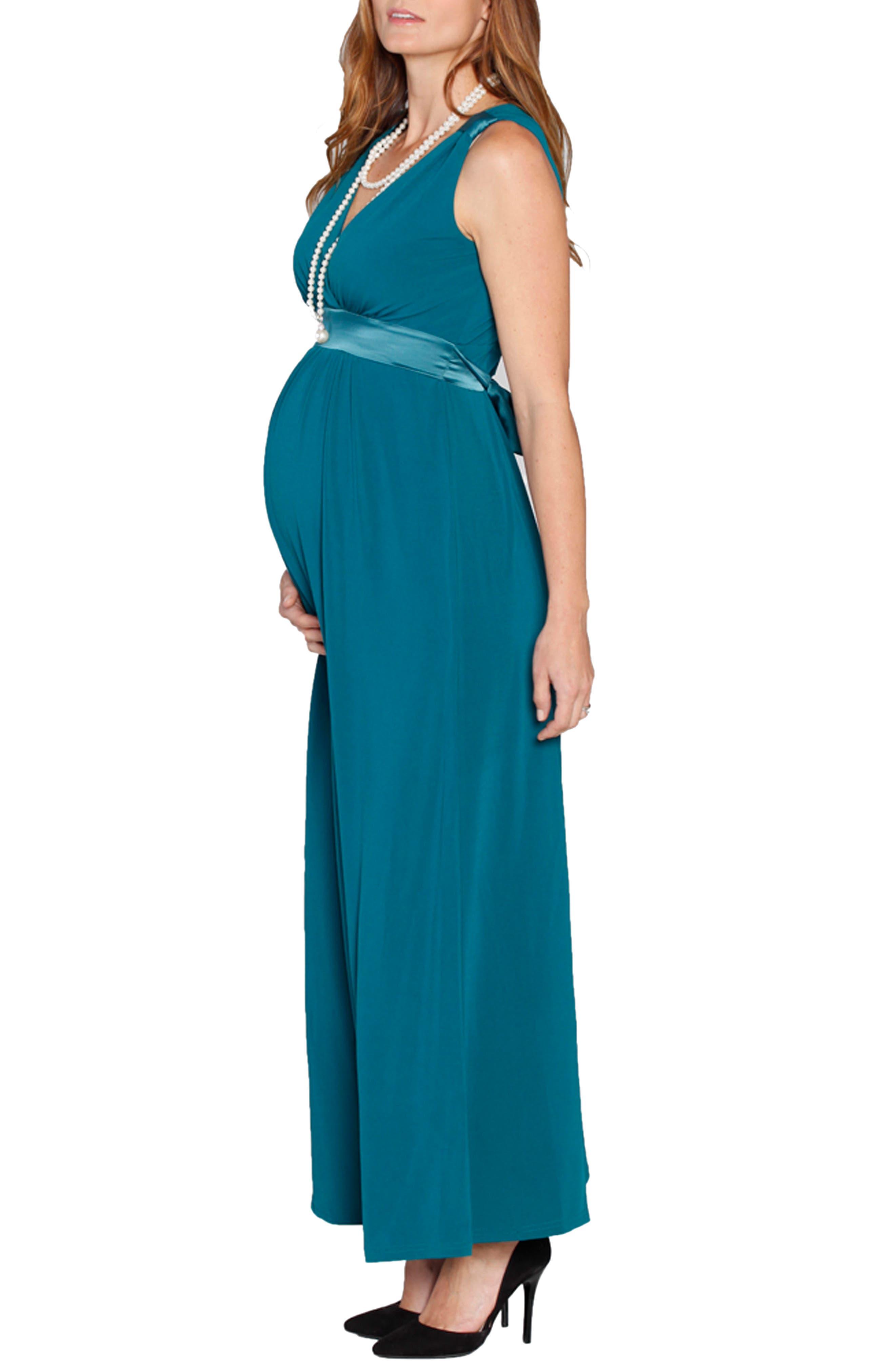 Angel Tie Waist Sleeveless Maternity/Nursing Gown & Bolero,                             Alternate thumbnail 3, color,                             440