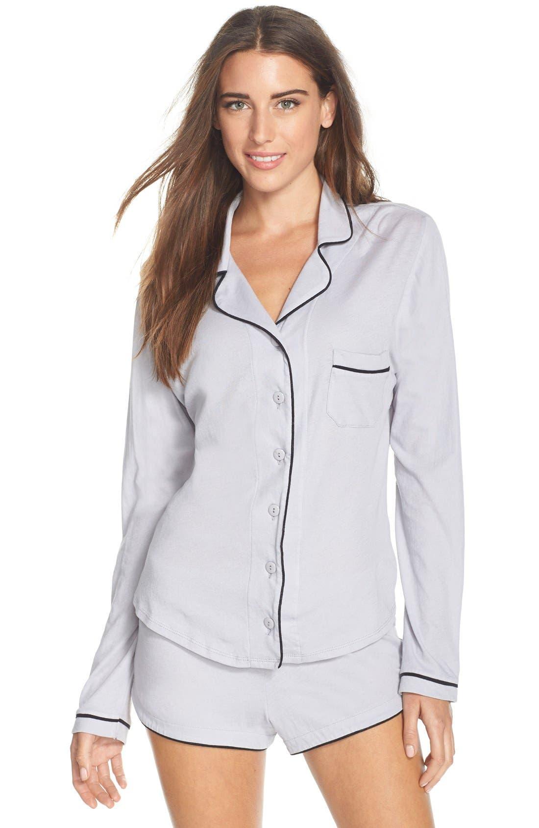 ONLY HEARTS,                             Organic Cotton Shorts Pajamas,                             Main thumbnail 1, color,                             400