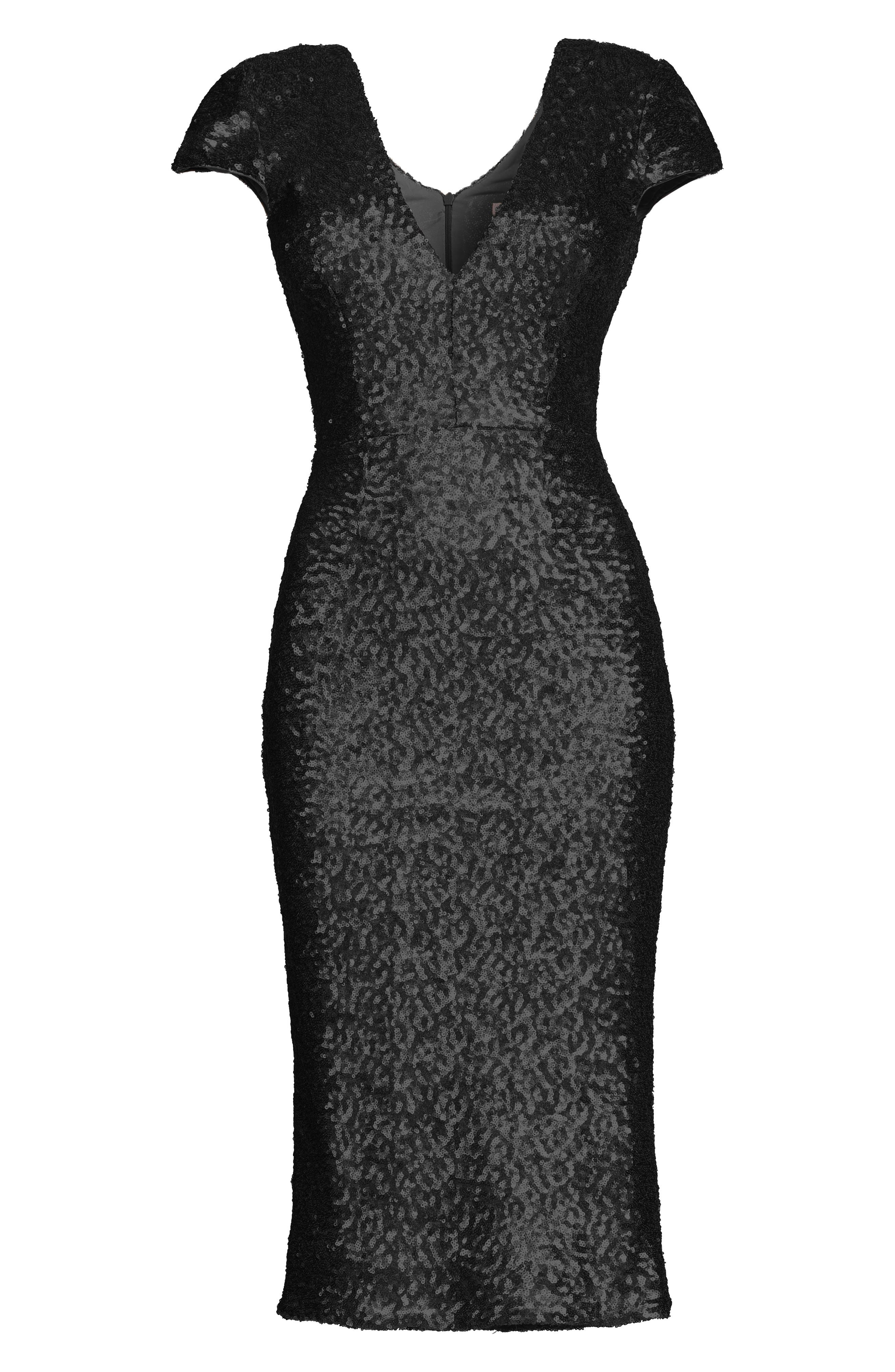 DRESS THE POPULATION,                             Allison Sequin Sheath Dress,                             Alternate thumbnail 5, color,                             008