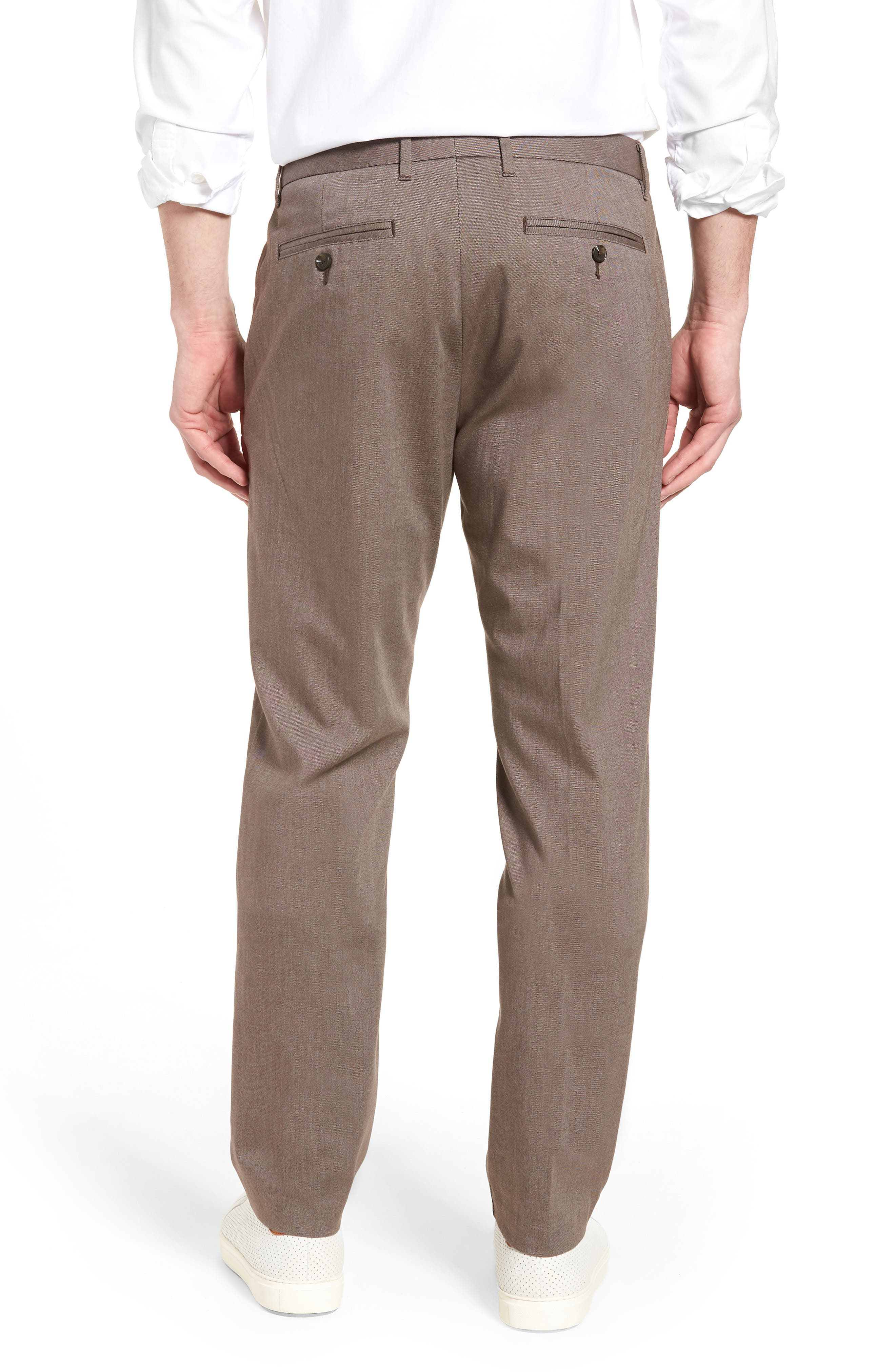 Weekday Warrior Flat Front Stretch Cotton Pants,                             Alternate thumbnail 2, color,                             200