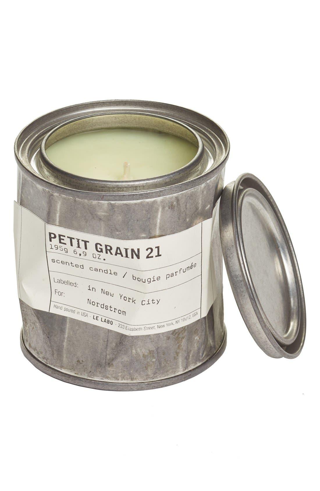 'Petit Grain 21' Vintage Tin Candle,                             Main thumbnail 1, color,                             NO COLOR