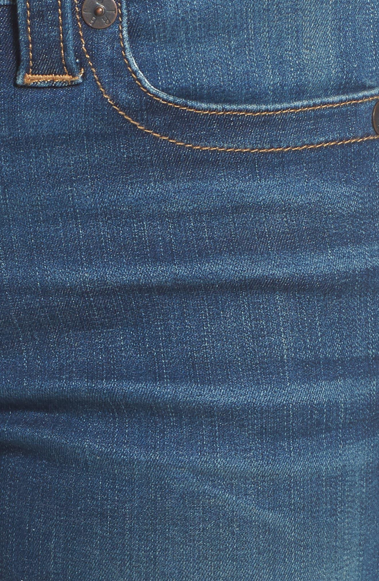 Halle Super Skinny Jeans,                             Alternate thumbnail 6, color,