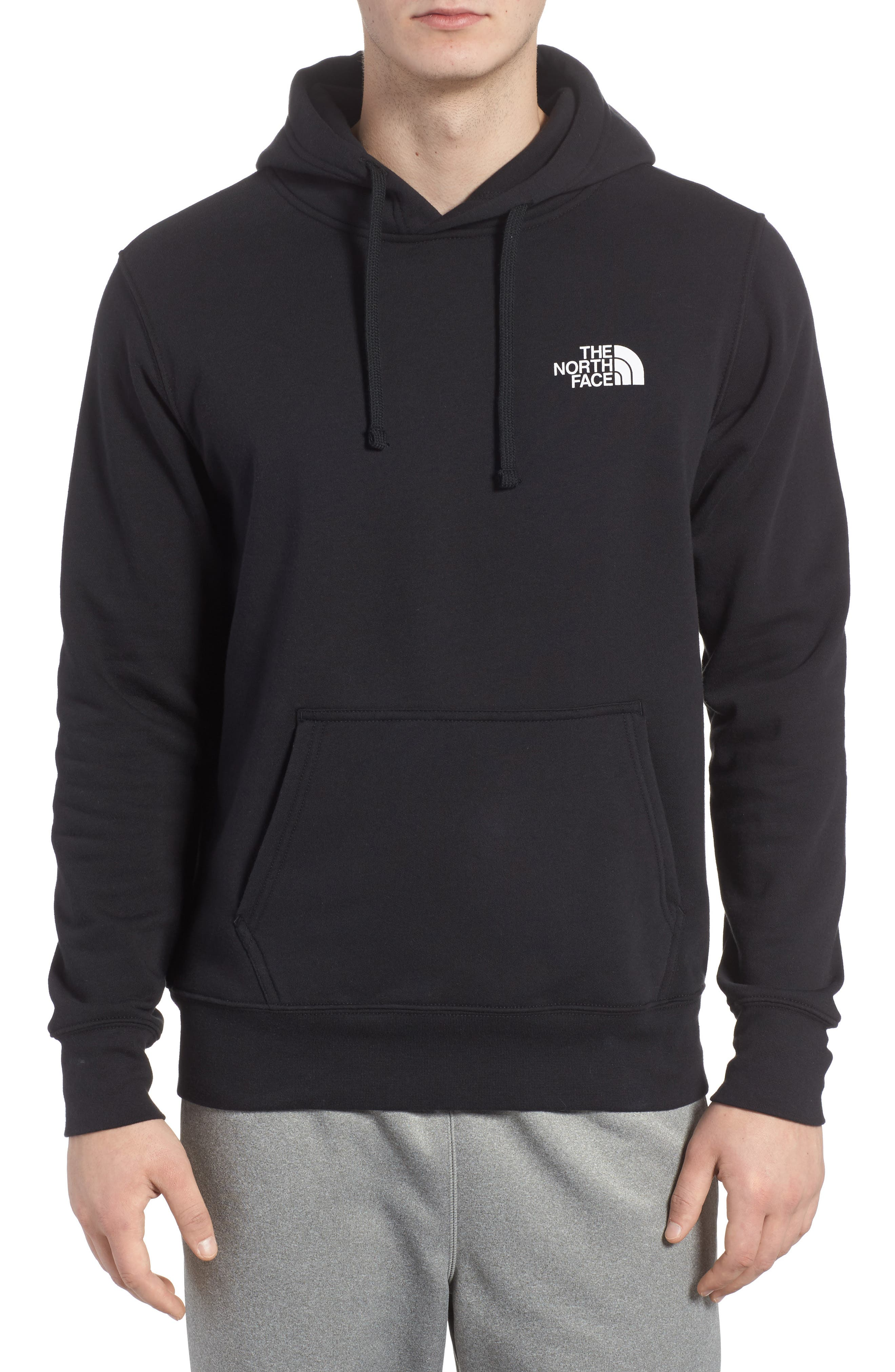 Red Box Hoodie,                             Main thumbnail 1, color,                             TNF BLACK/ TNF WHITE
