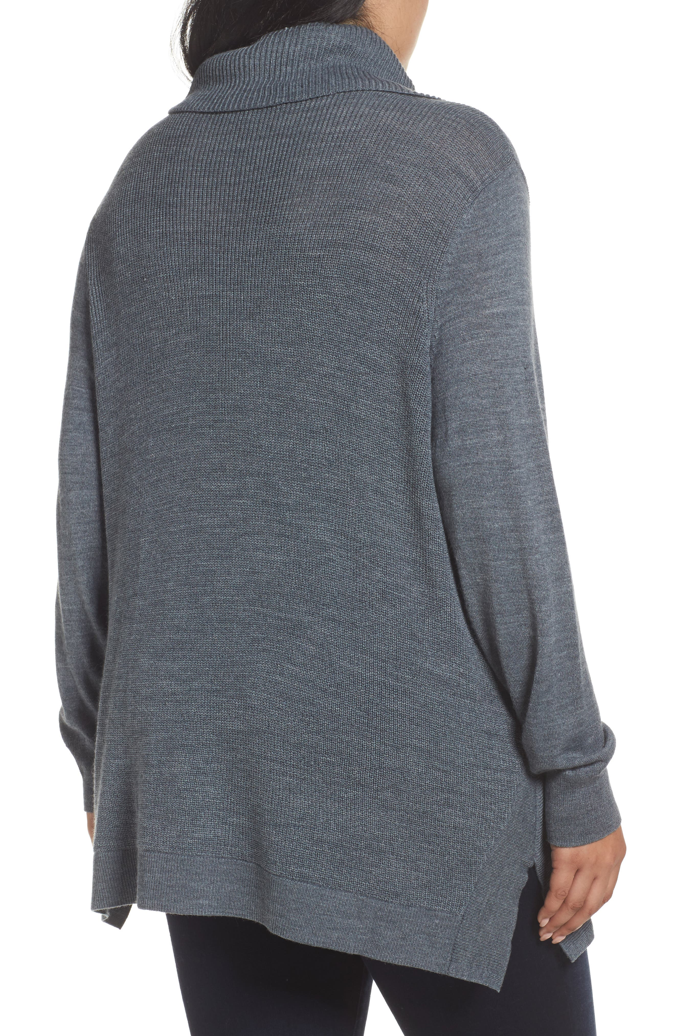 Cowl Neck Ribbed Trim Pullover,                             Alternate thumbnail 10, color,