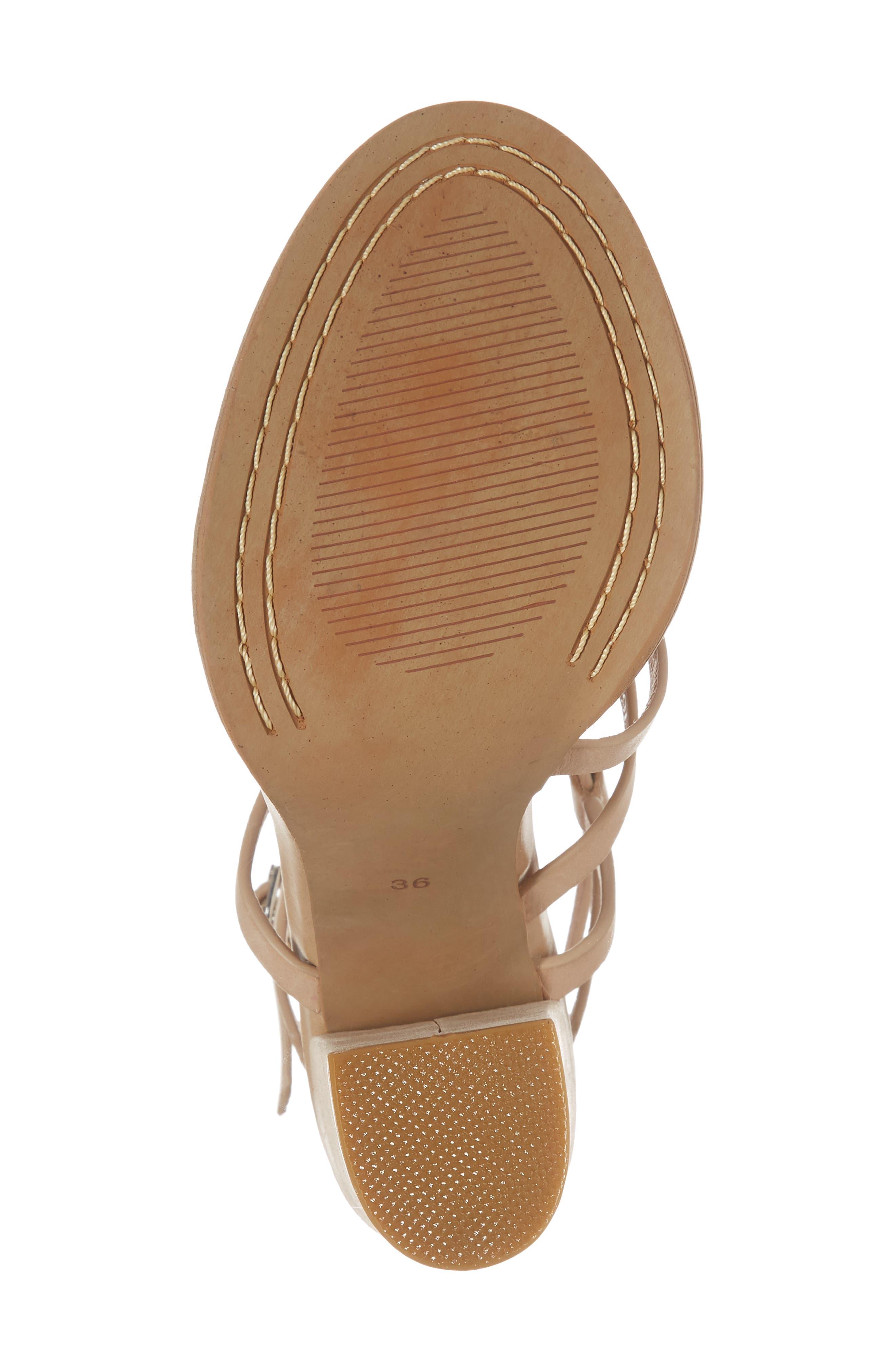 Jyve Asymmetrical Cross Strap Sandal,                             Alternate thumbnail 6, color,