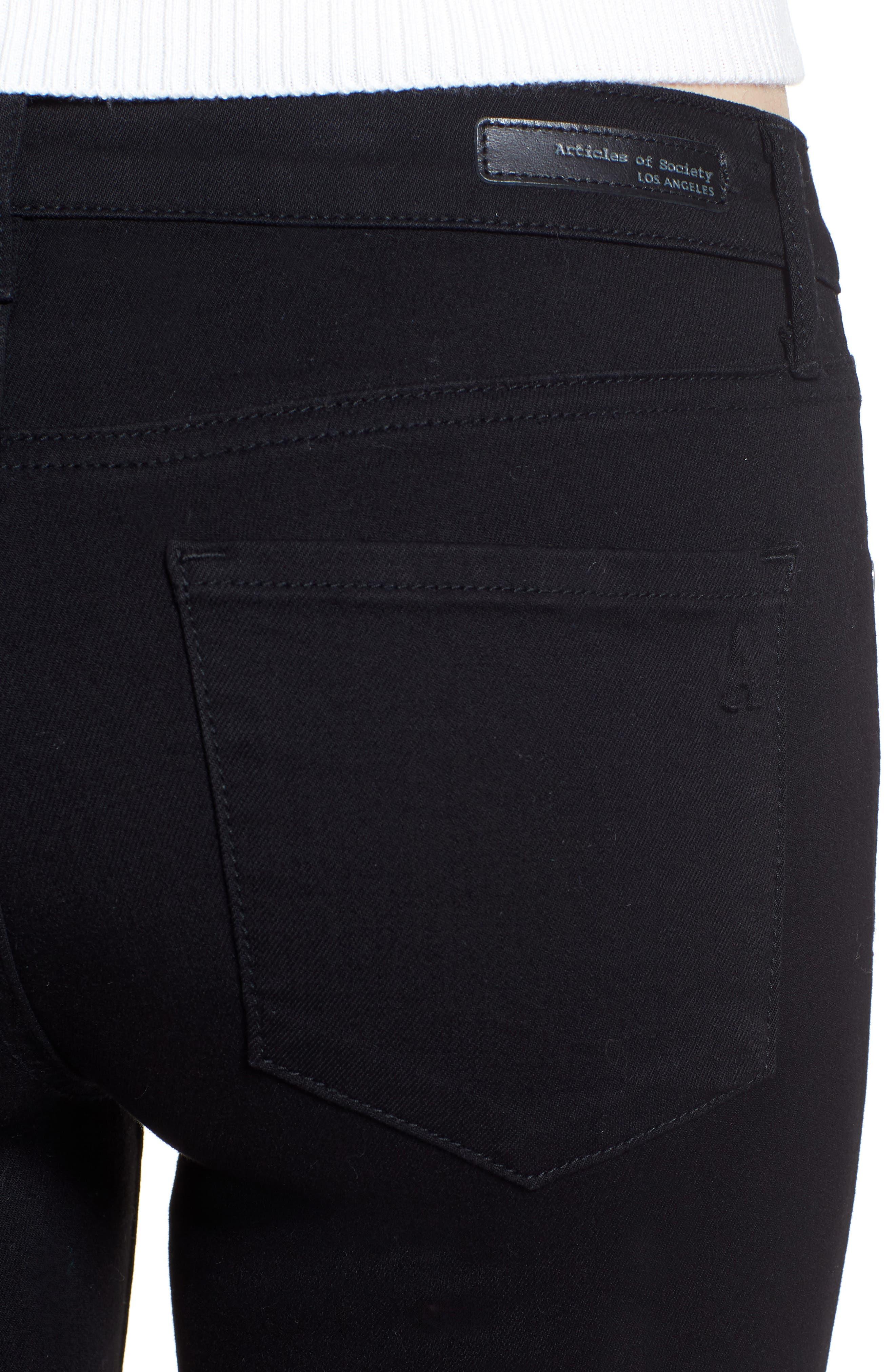 Sarah Skinny Jeans,                             Alternate thumbnail 4, color,                             MACON