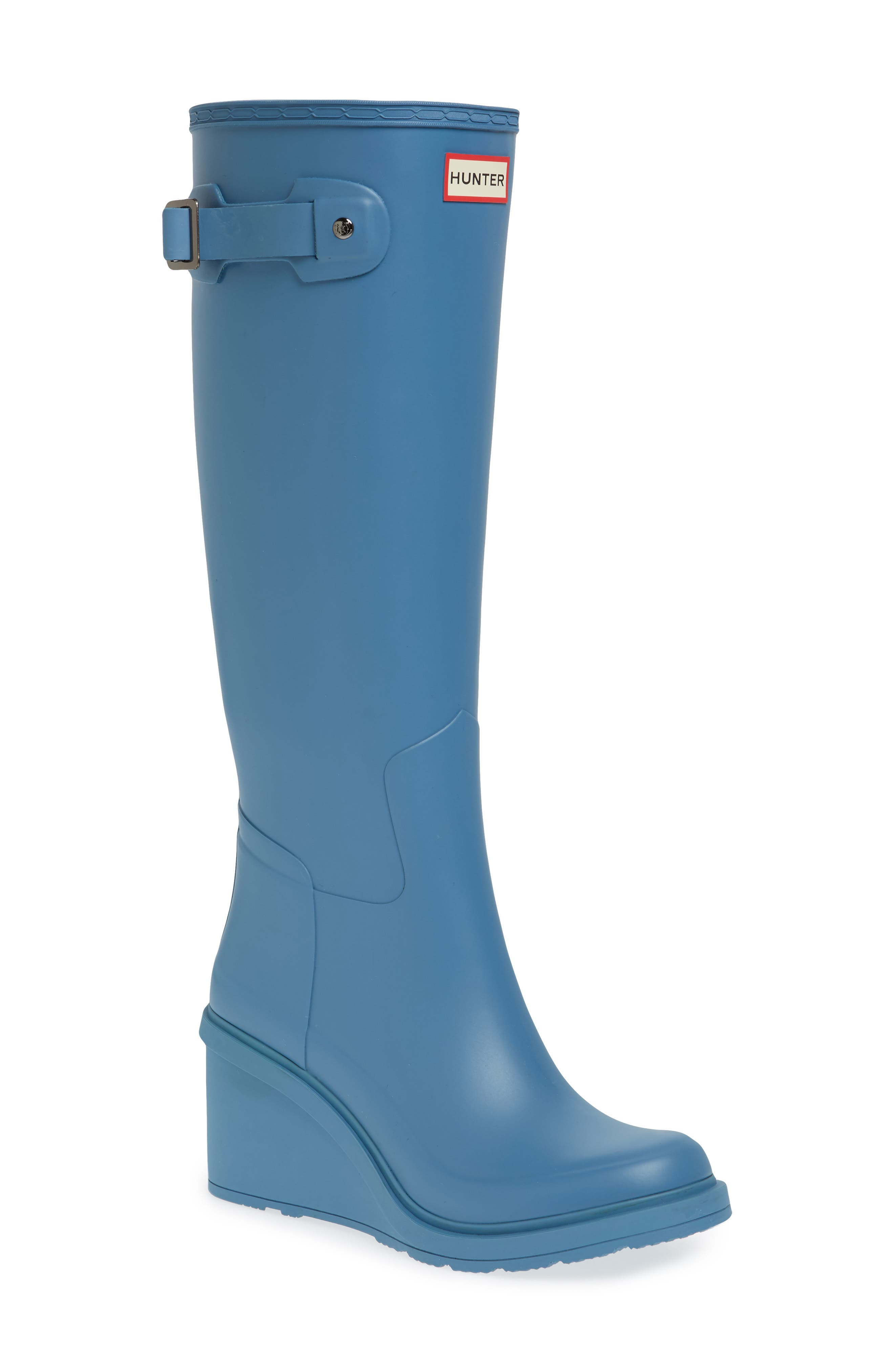 Original Refined Wedge Rain Boot,                             Main thumbnail 3, color,