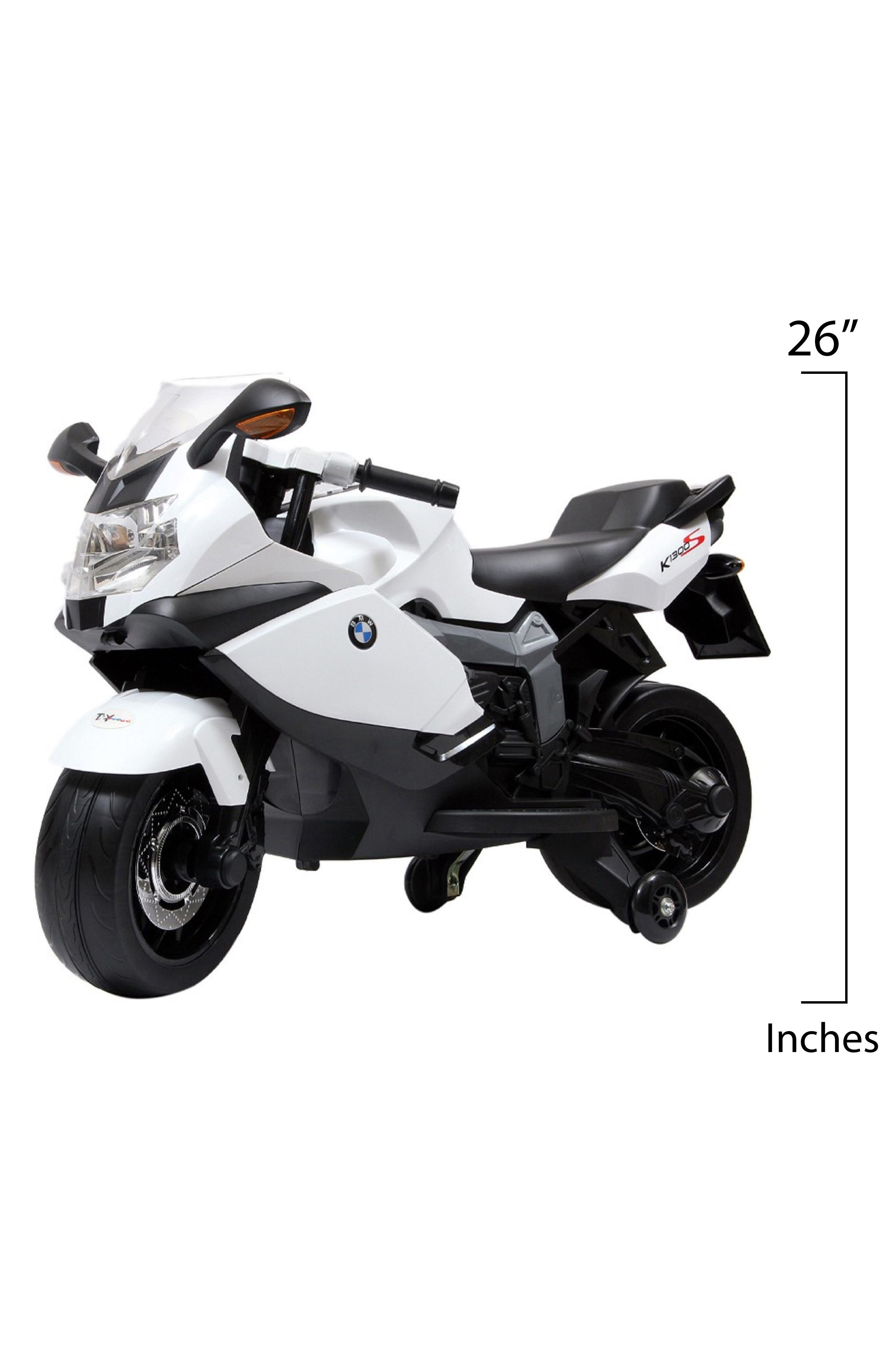 BMW Ride-On Toy Motorcycle,                             Alternate thumbnail 2, color,                             WHITE