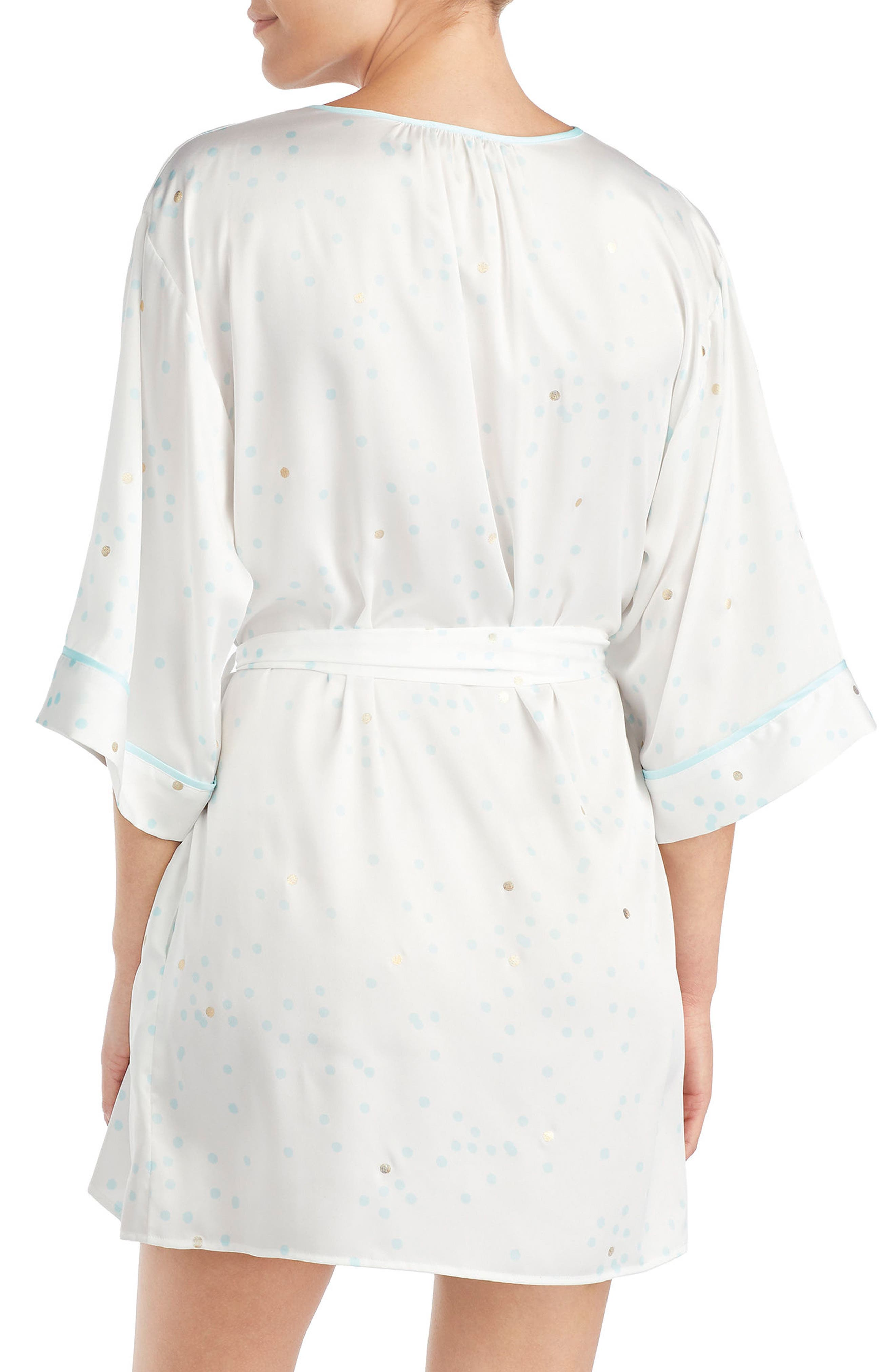 three-quarter sleeve robe,                             Alternate thumbnail 2, color,                             107