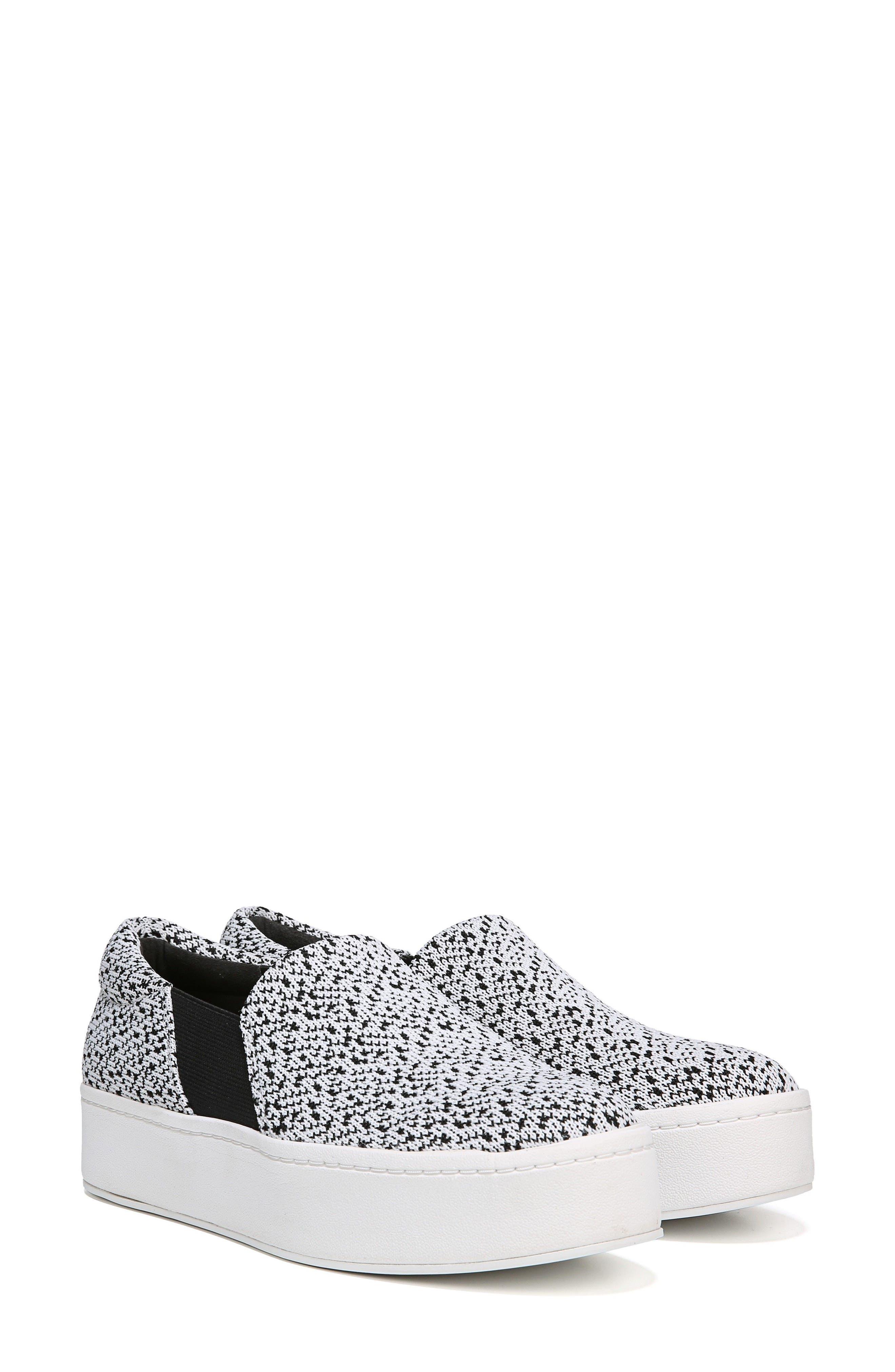 Warren Slip-On Sneaker,                             Alternate thumbnail 7, color,                             WHITE/ BLACK
