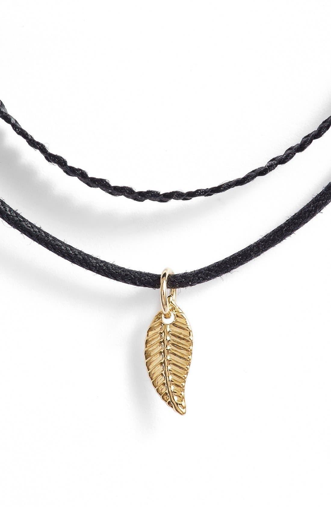 'Tiny Leaf - Ceres' Choker Necklace,                             Alternate thumbnail 2, color,                             710