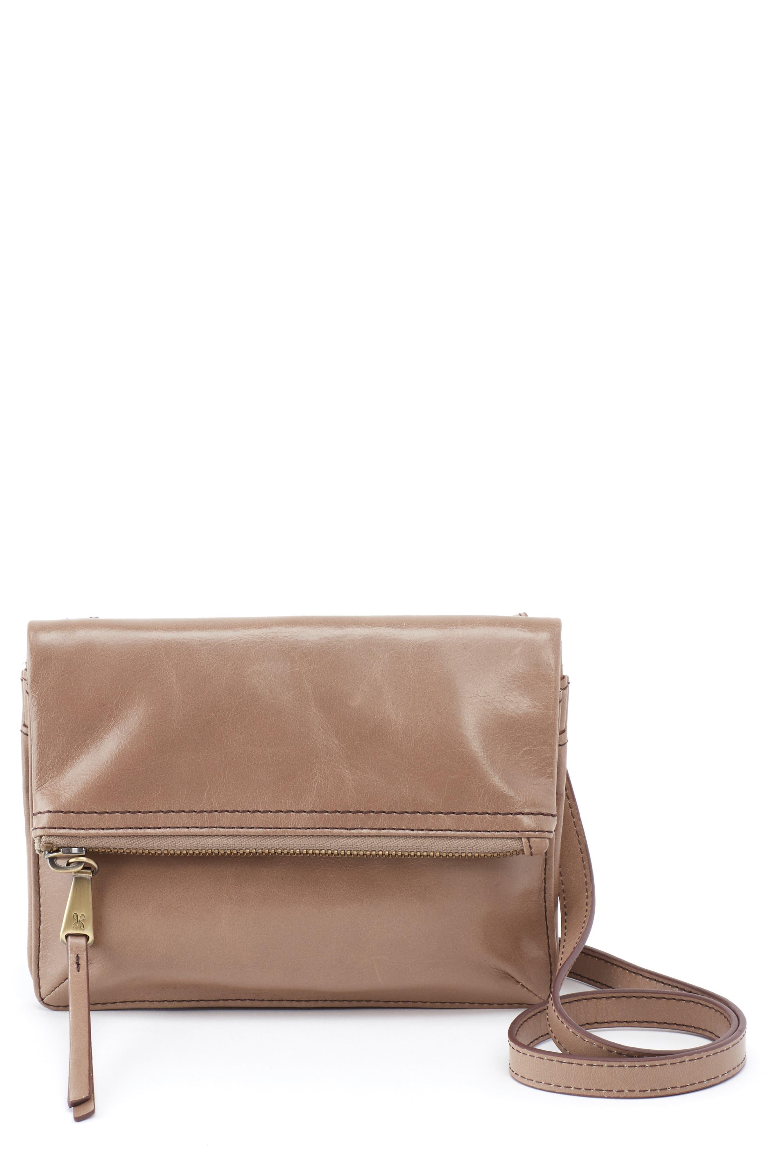 Glade Leather Crossbody Bag,                             Main thumbnail 1, color,                             COBBLESTONE