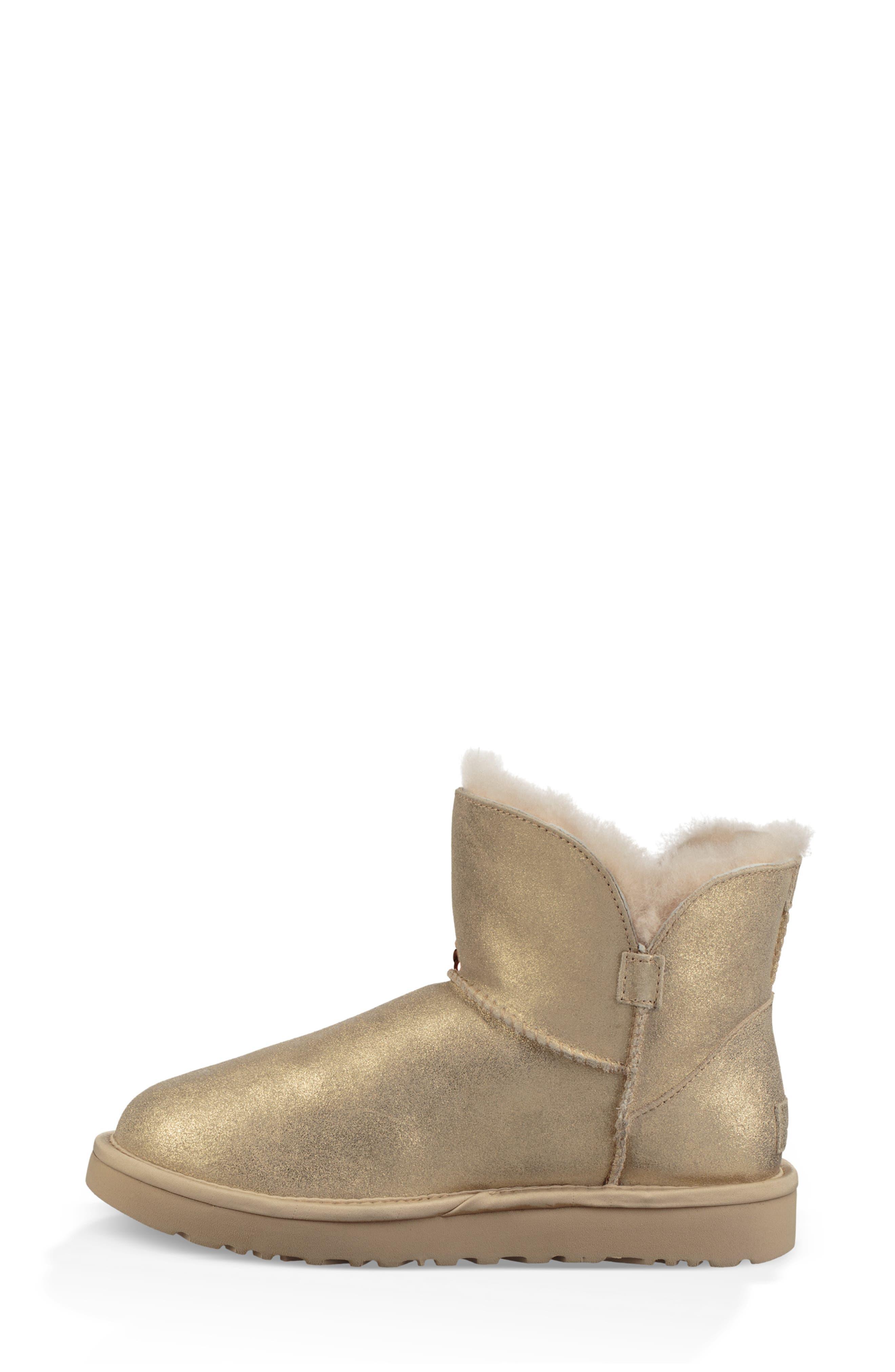 Mini Sequin Bow Bootie,                             Alternate thumbnail 6, color,                             GOLD