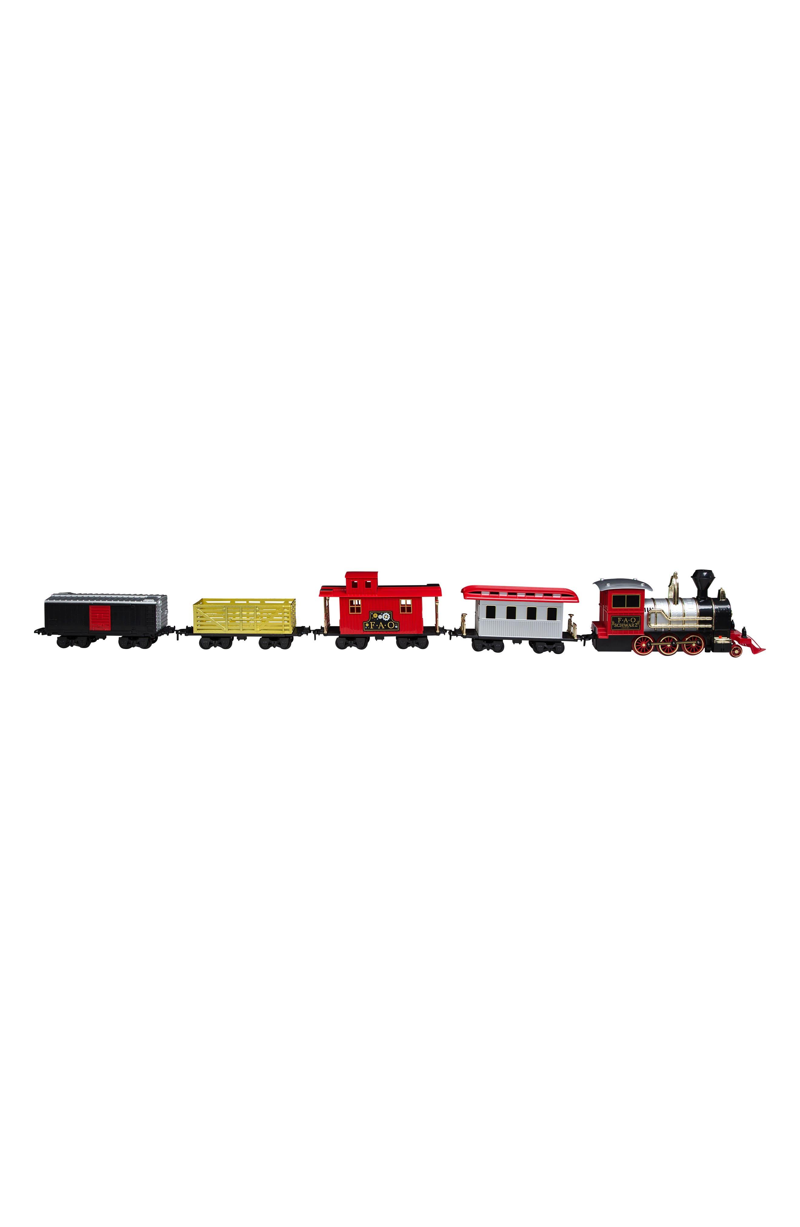75-Piece Train Set,                             Main thumbnail 1, color,                             RED