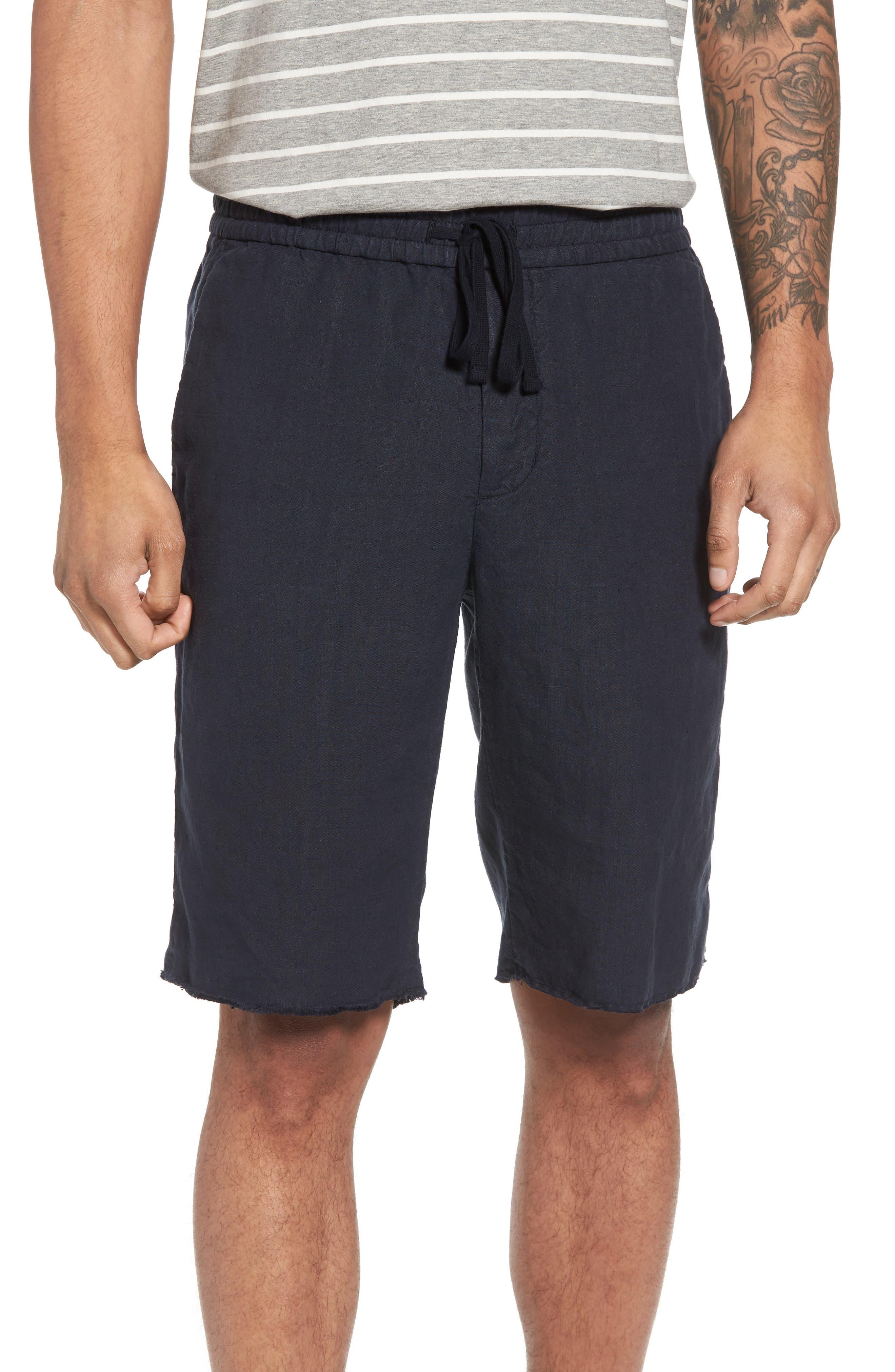 Raw Hem Slim Fit Track Shorts,                             Main thumbnail 1, color,                             NEW COASTAL