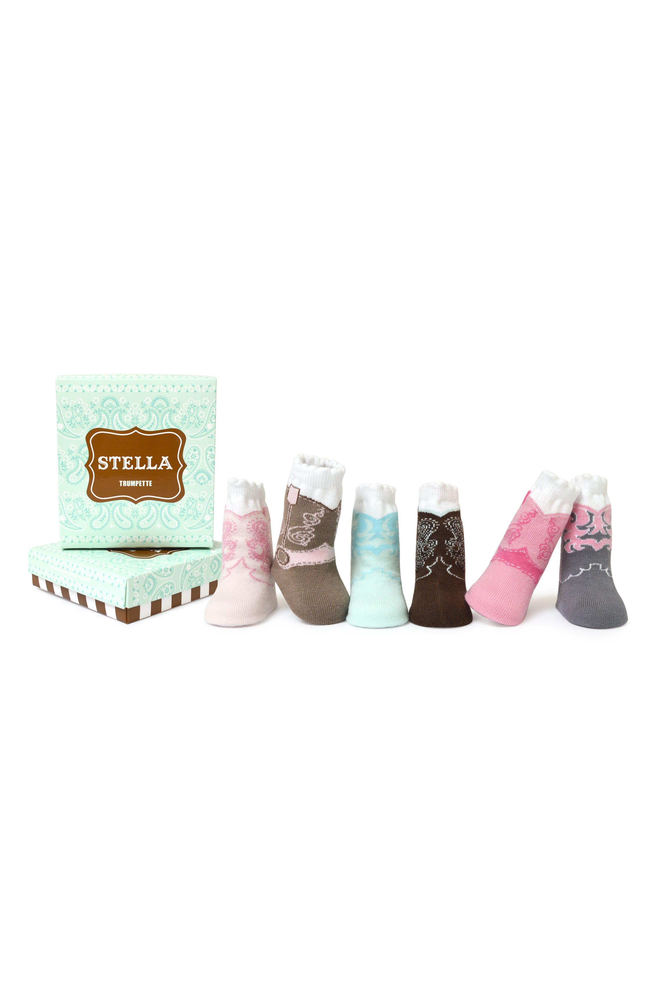 Stella 6-Pack Socks,                             Main thumbnail 1, color,                             650