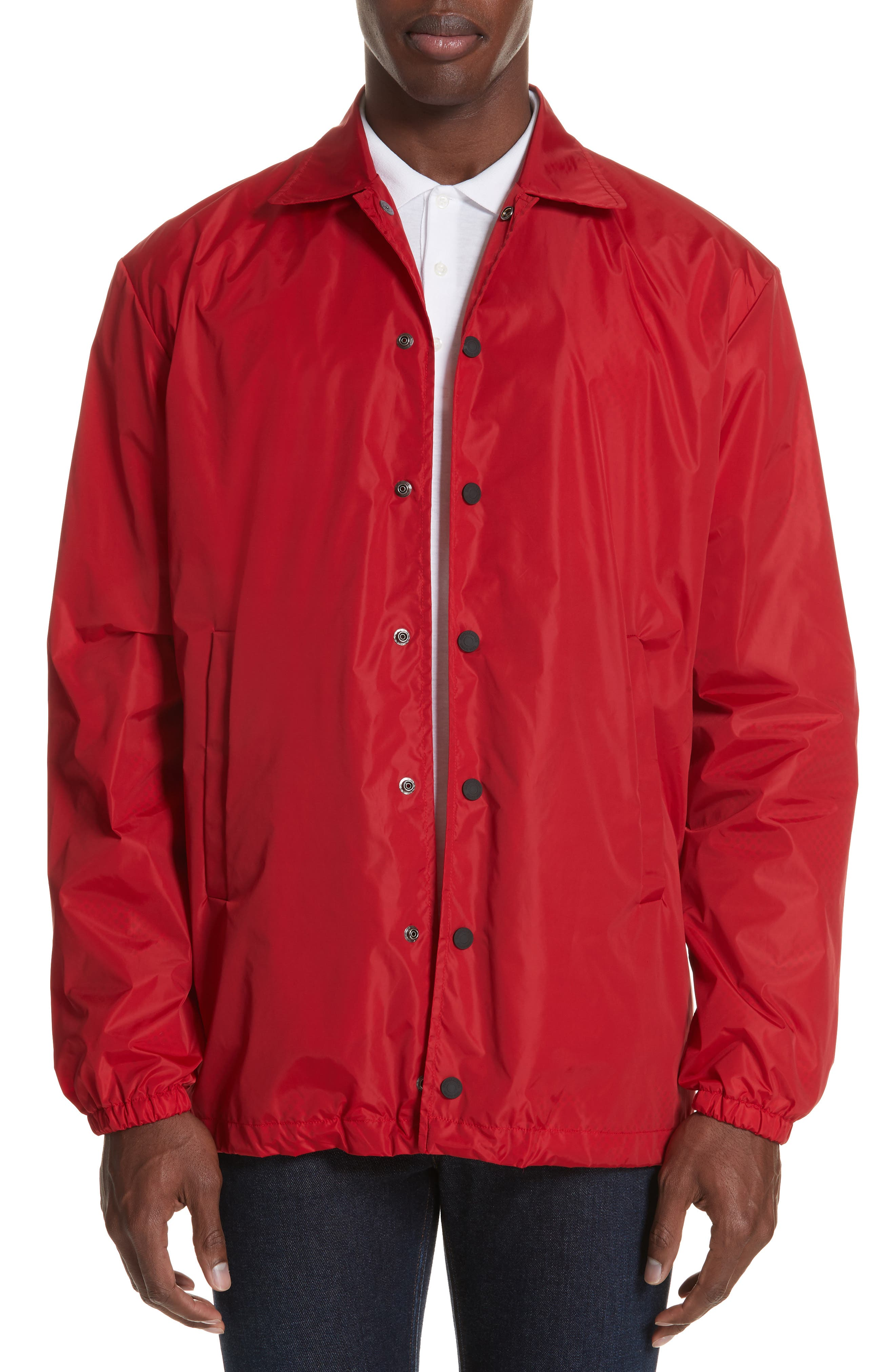 Logo Coachs Jacket,                         Main,                         color, RED