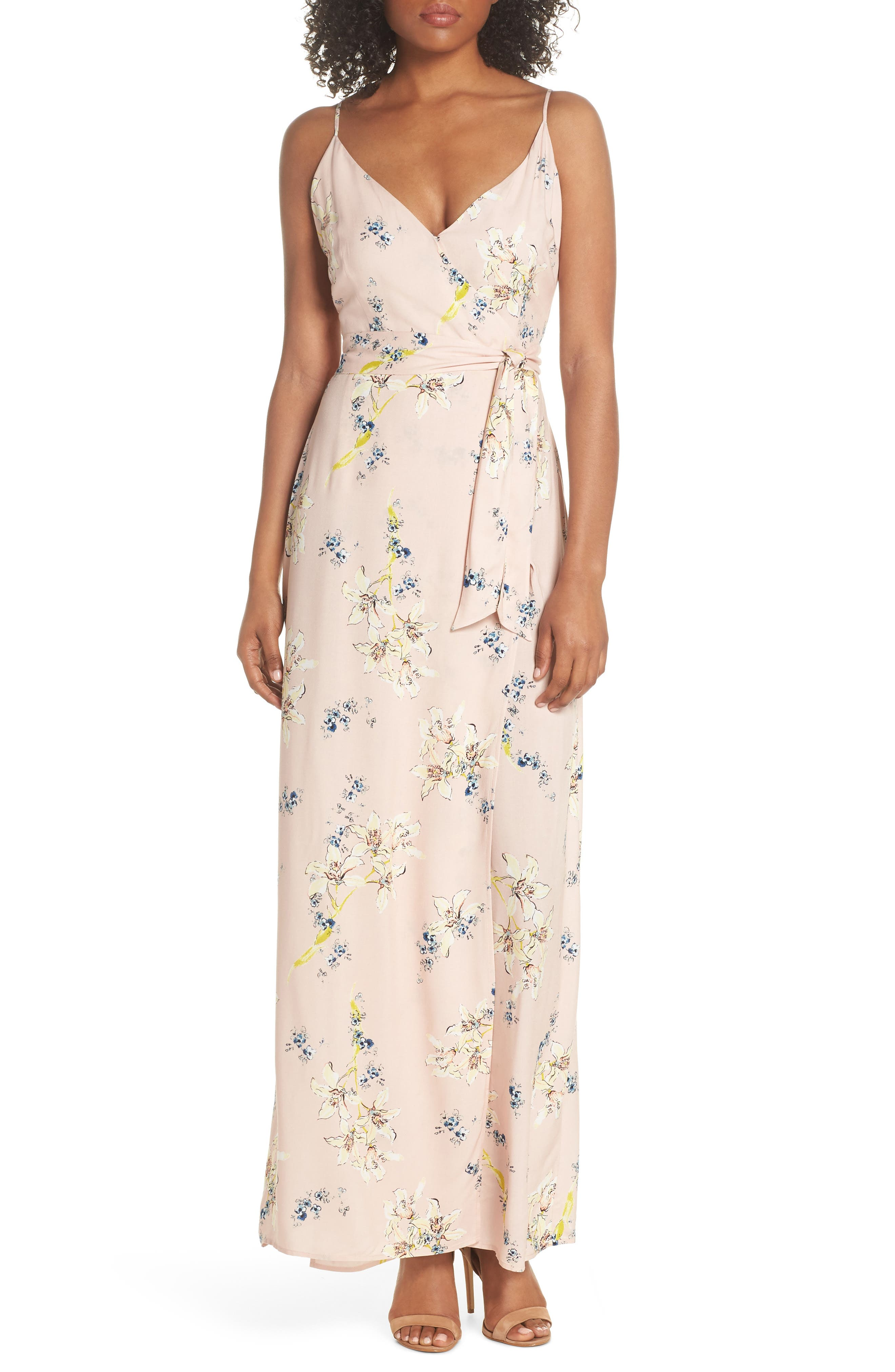 Regina Floral Print Maxi Dress,                             Main thumbnail 1, color,                             700