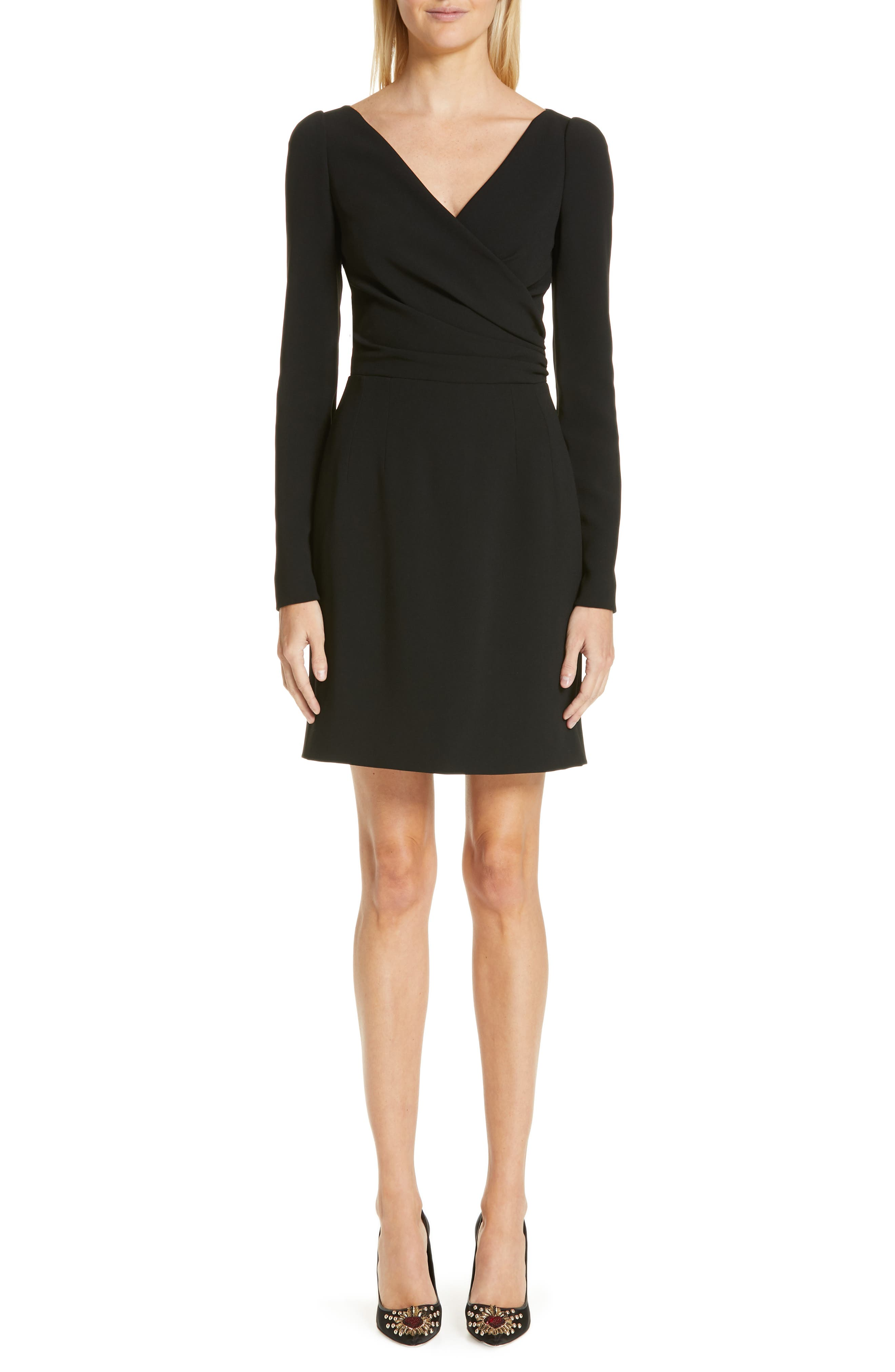 Dolce & gabbana Surplice Dress, 8 IT - Black