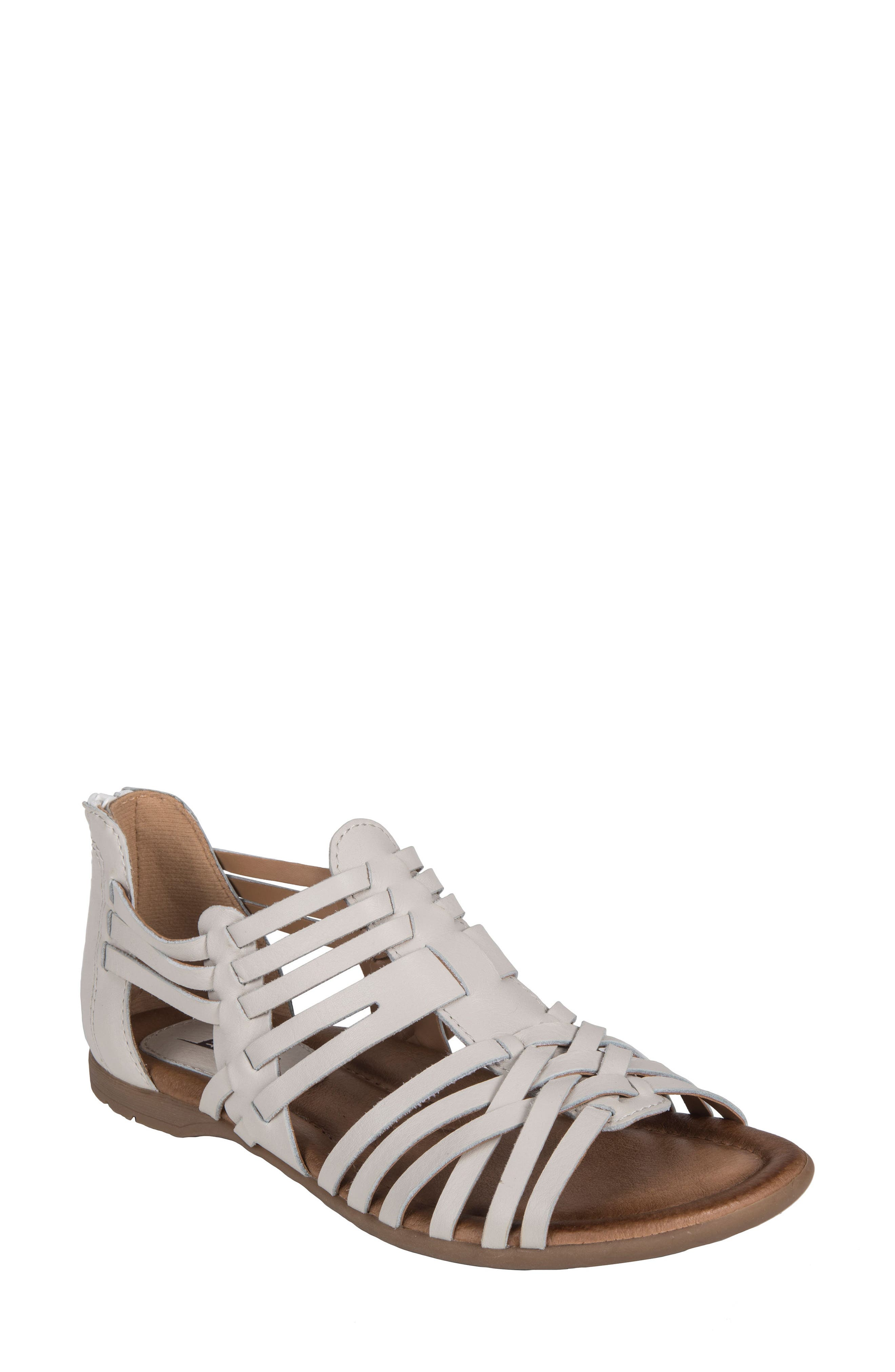 Bonfire Strappy Sandal,                         Main,                         color, OFF WHITE LEATHER