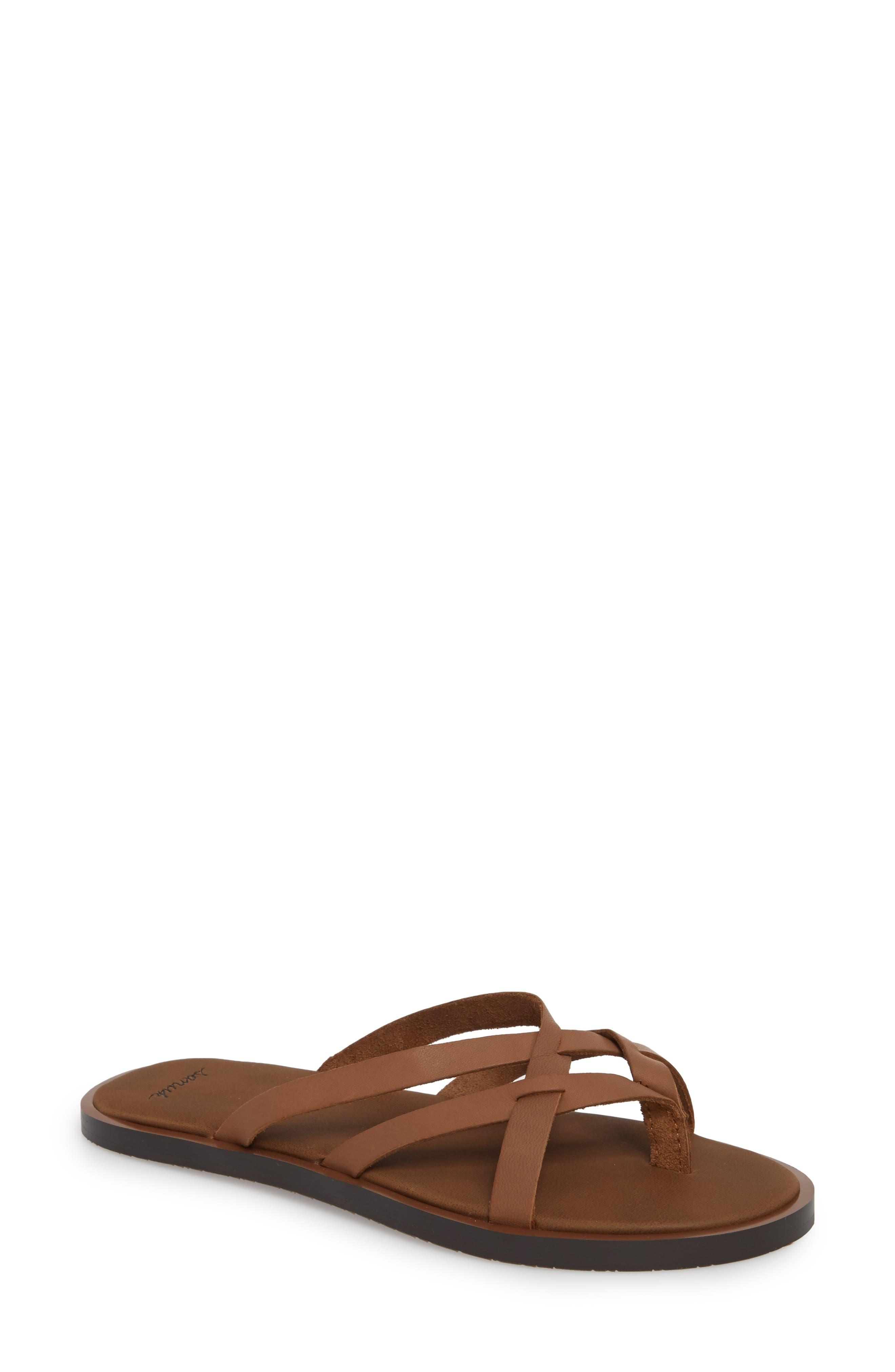 Yoga Strappy Thong Sandal,                             Main thumbnail 2, color,