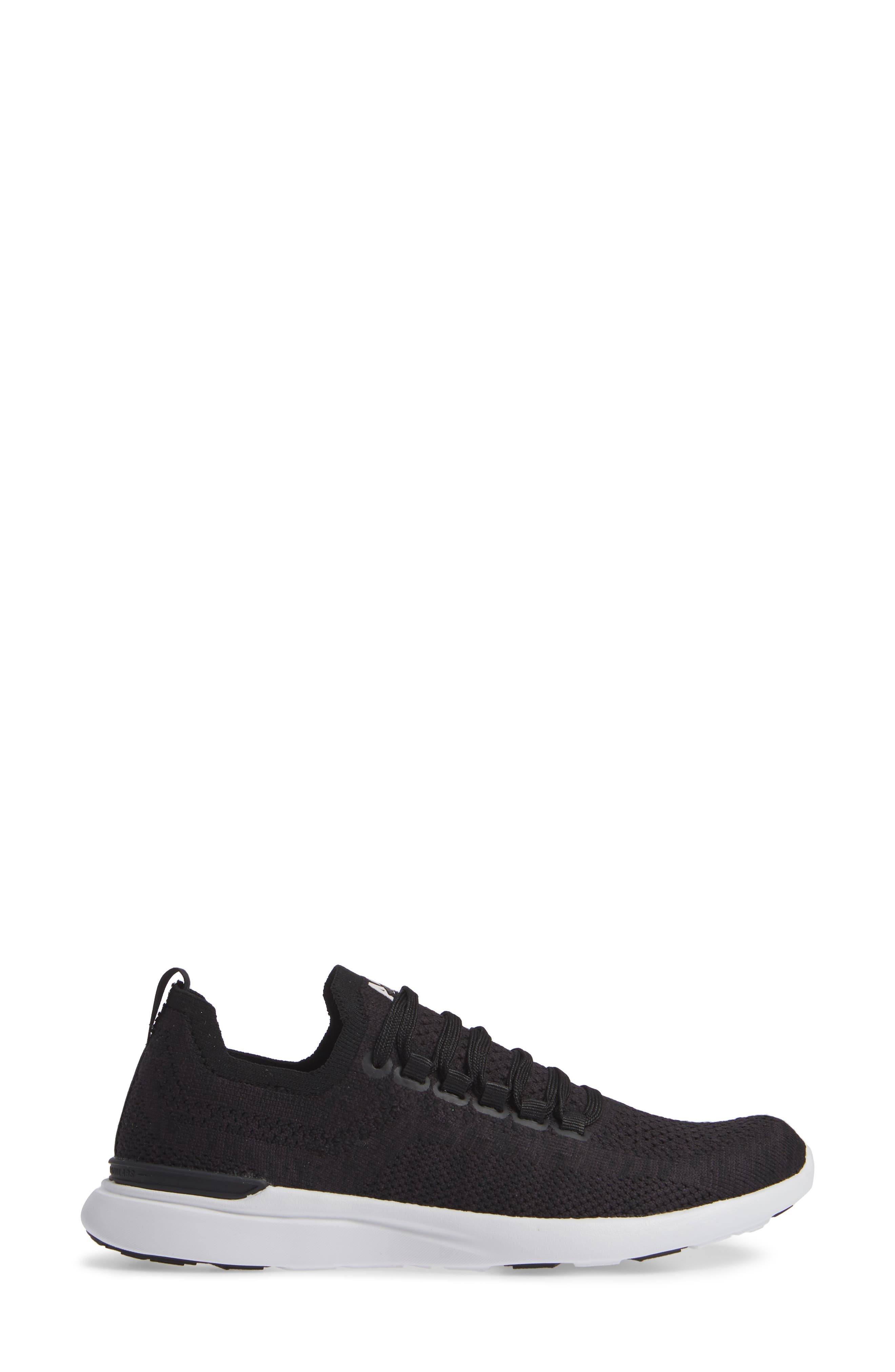 Techloom Breeze Knit Running Shoe,                             Alternate thumbnail 3, color,                             BLACK/ BLACK/ WHITE