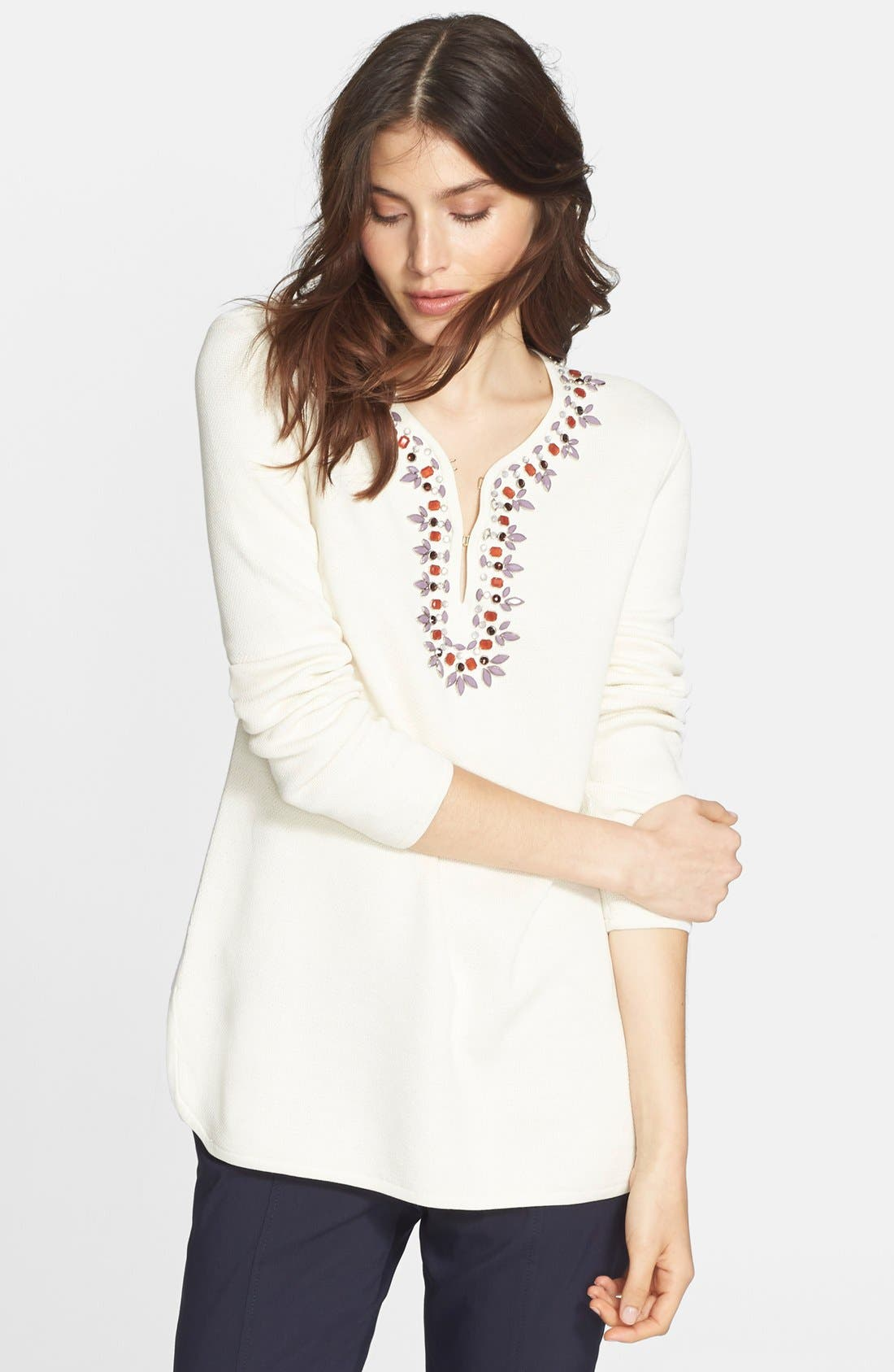 TORY BURCH,                             Embellished Tunic,                             Alternate thumbnail 2, color,                             907