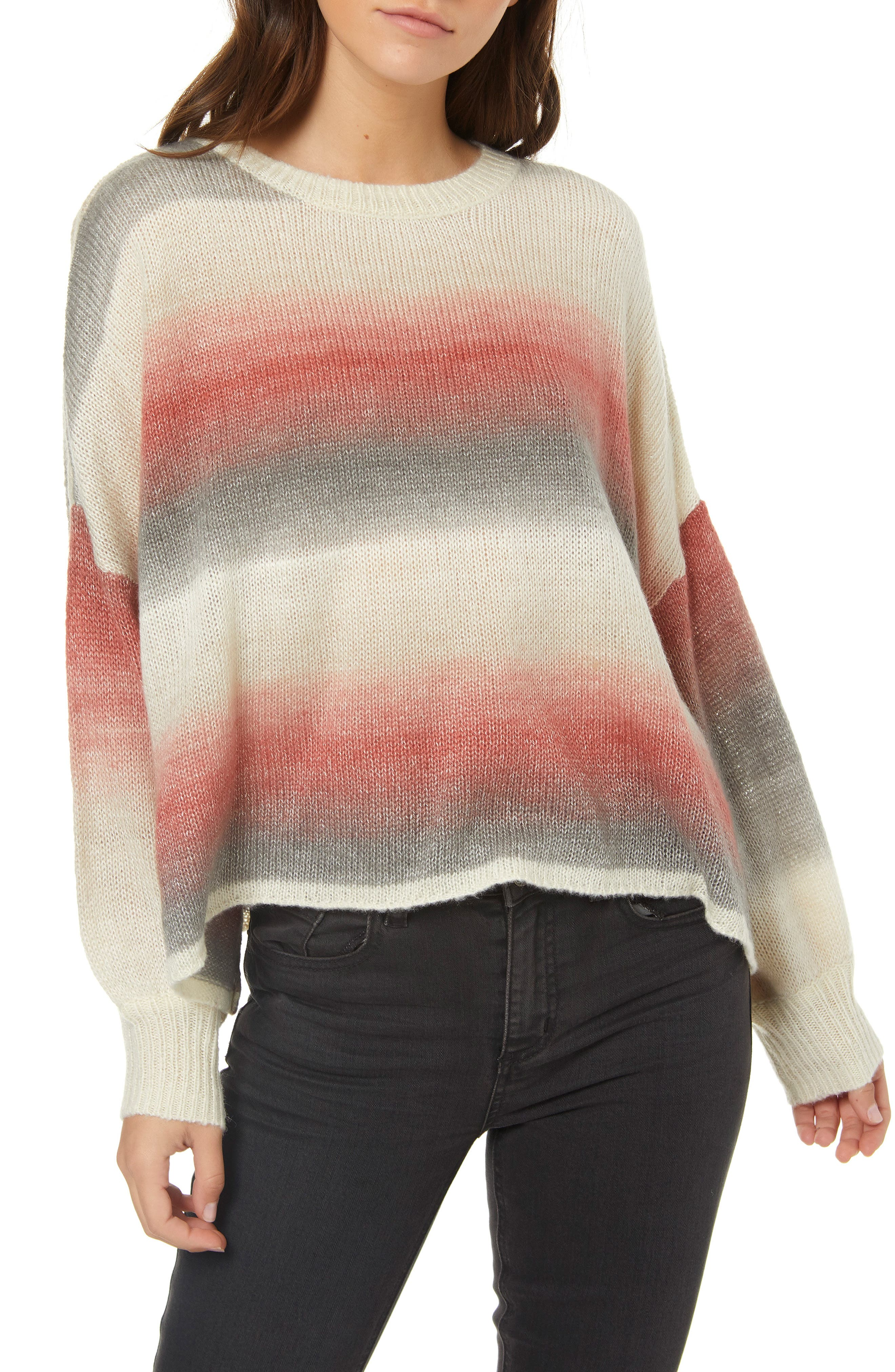 Sand Dune Stripe Knit Pullover,                             Main thumbnail 1, color,                             MULTI COLORED