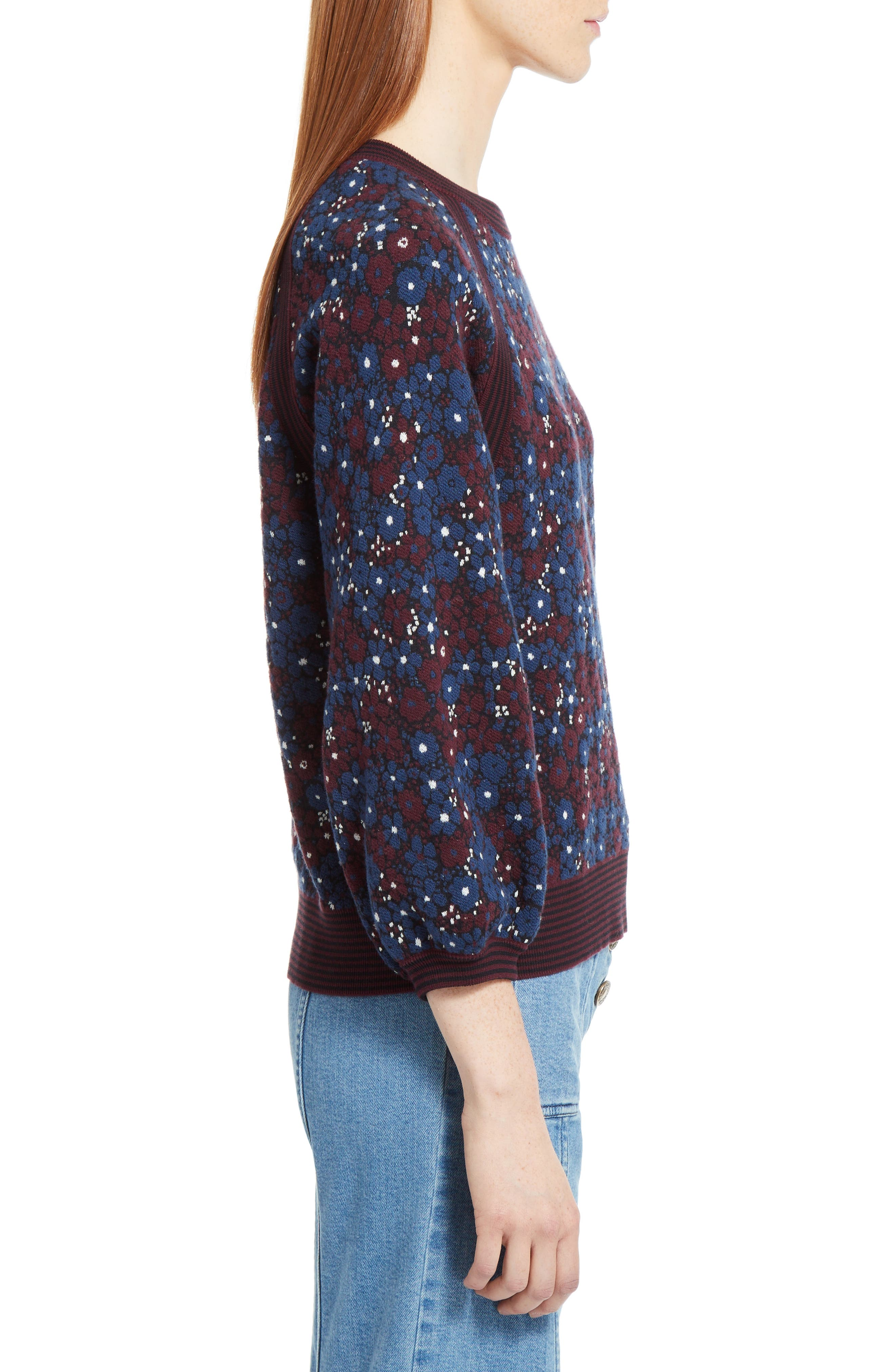 Floral Jacquard Sweater,                             Alternate thumbnail 2, color,                             401