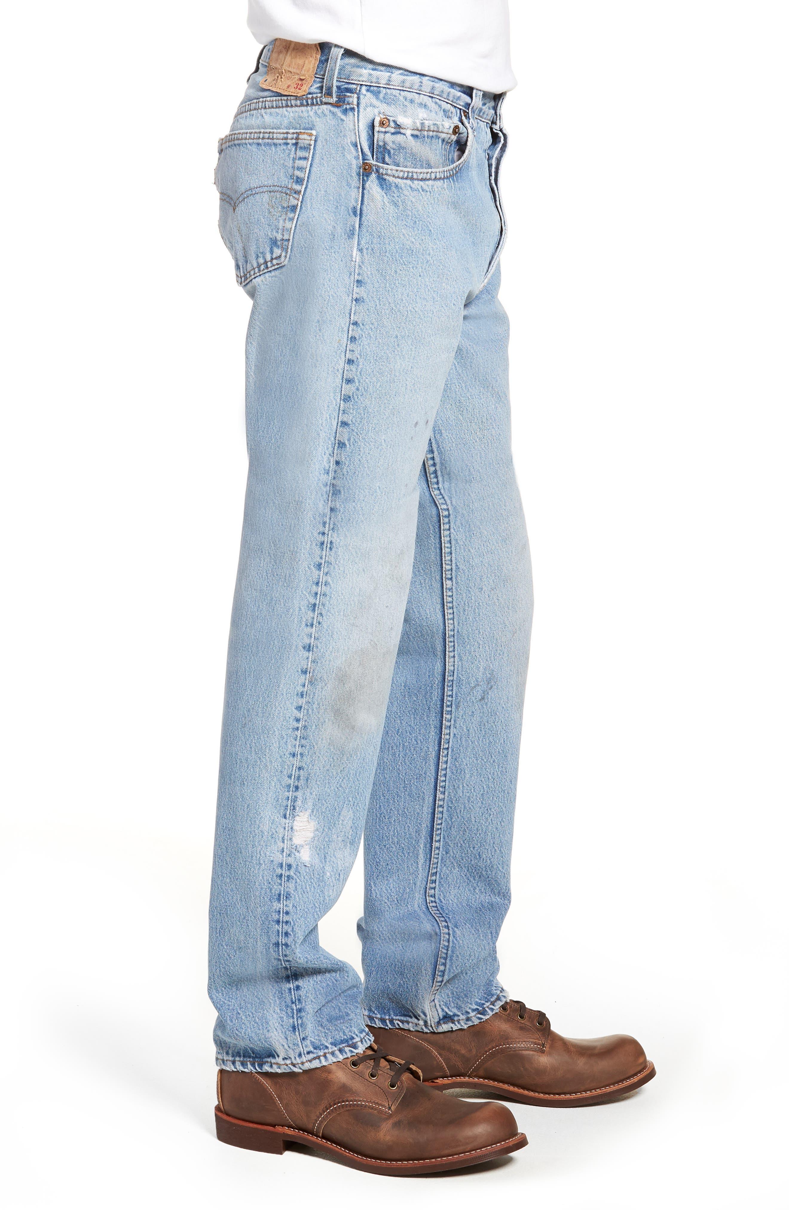Authorized Vintage 501<sup>™</sup> Straight Leg Jeans,                             Alternate thumbnail 3, color,                             AV BLUE