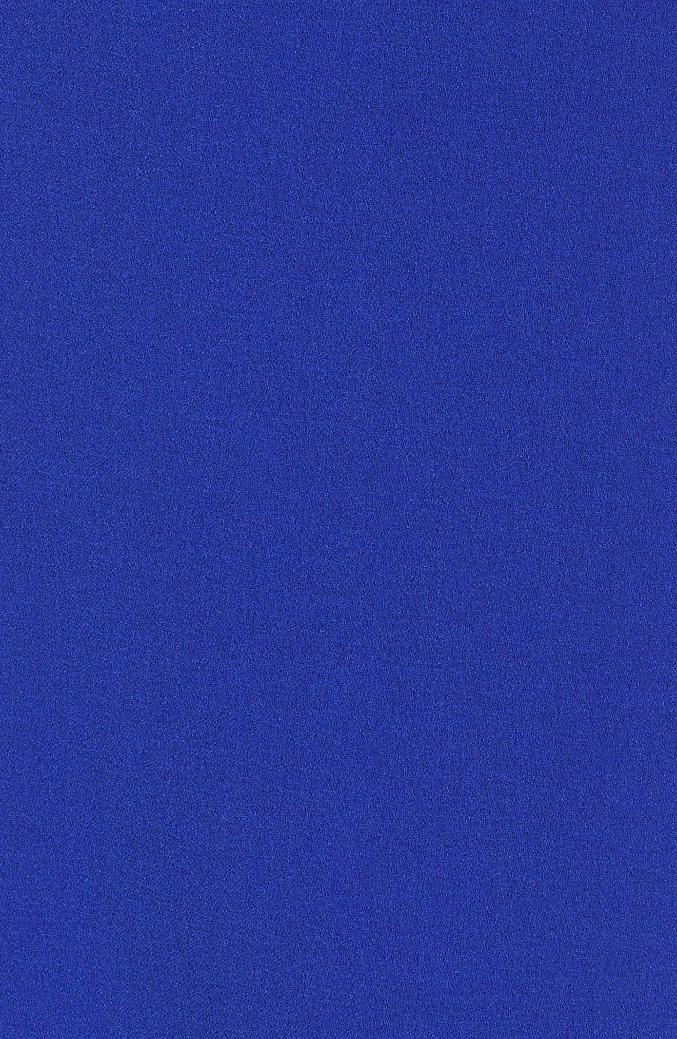 Ruffle Shoulder Crepe Shift Dress,                             Alternate thumbnail 10, color,