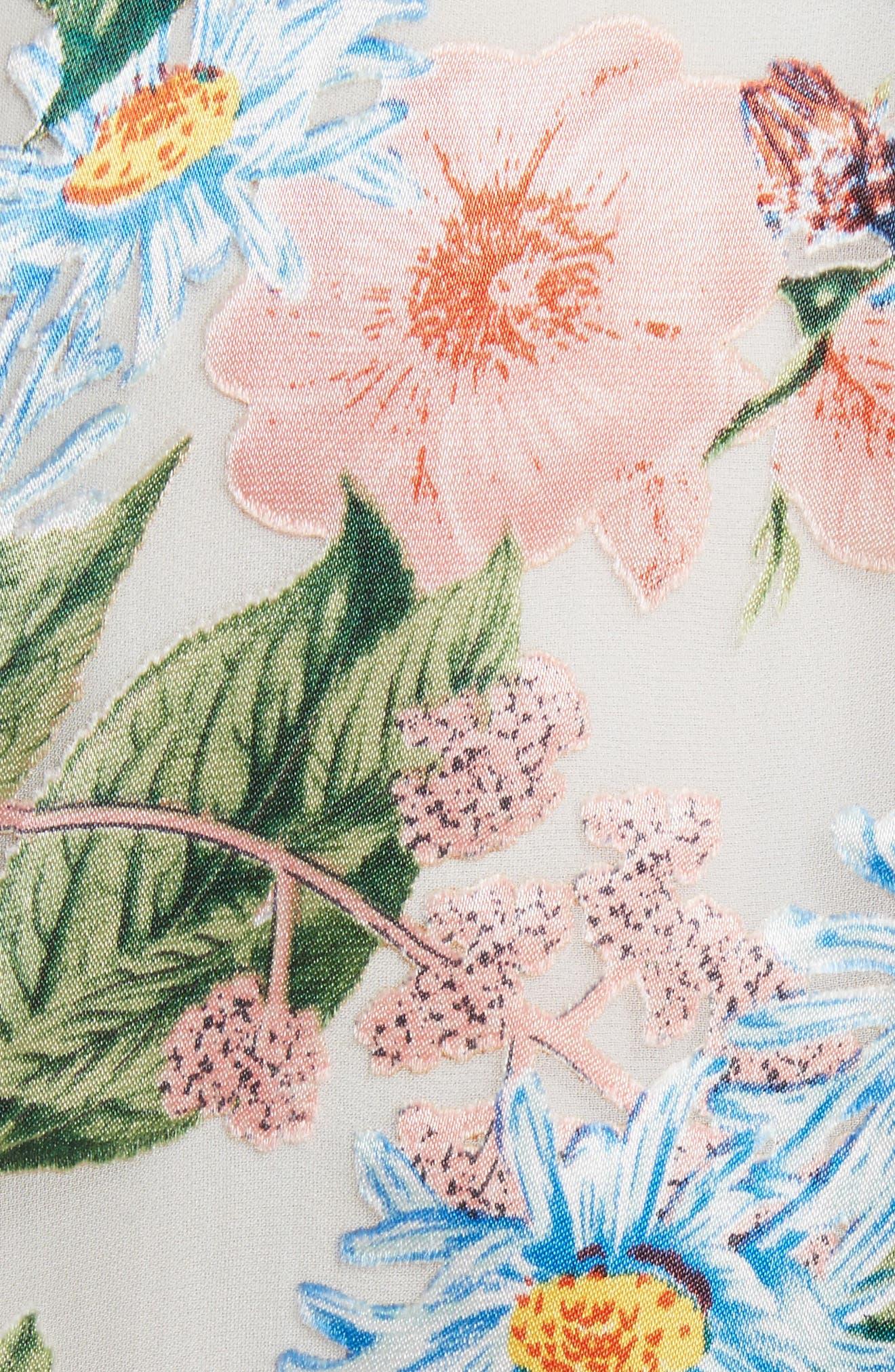 Alves Floral Cold Shoulder Dress,                             Alternate thumbnail 5, color,
